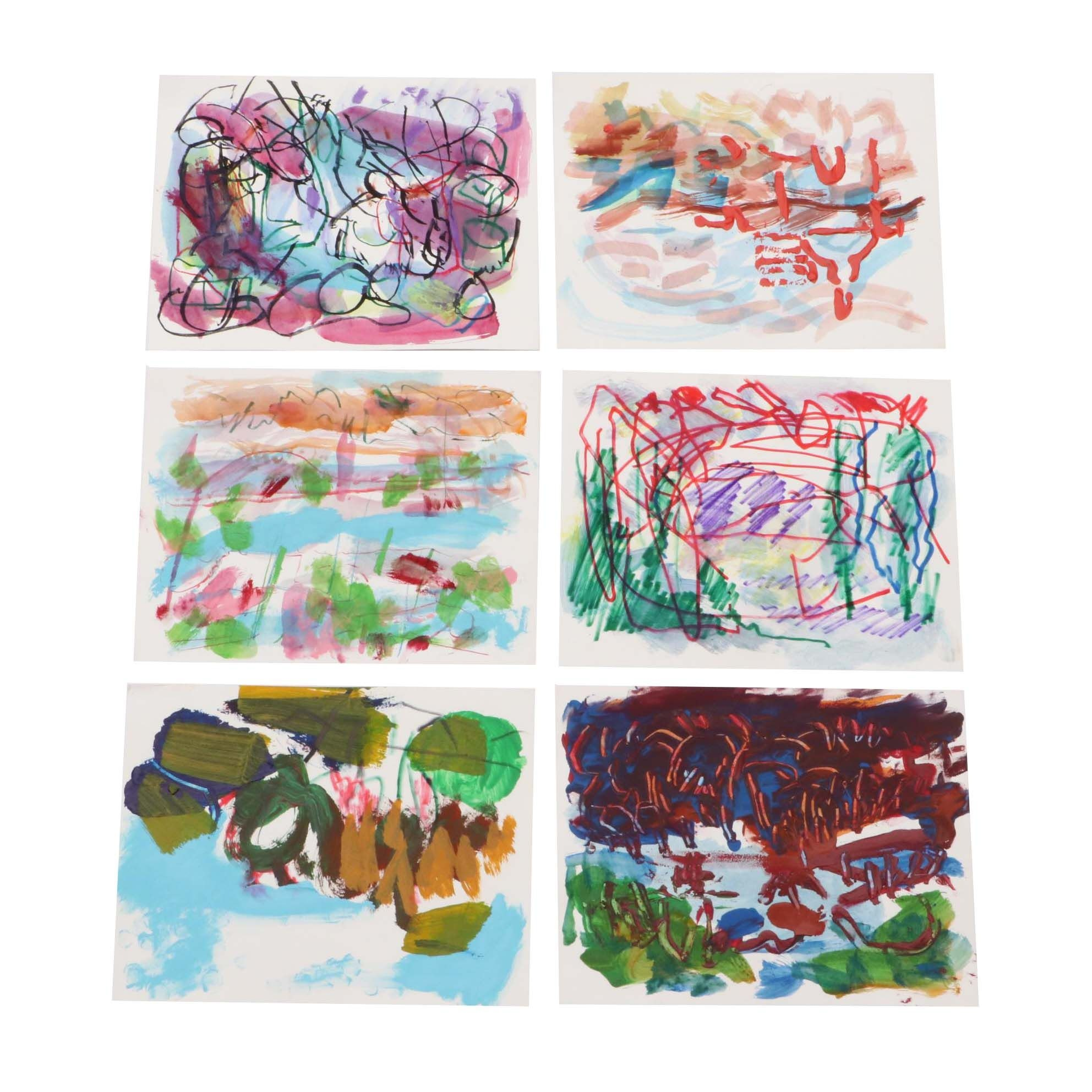 Paul Chidlaw Abstract Mixed Media Paintings