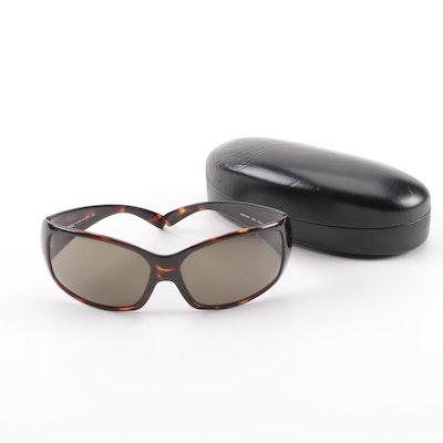 1de6c32d2b Versace 4055 Tortoiseshell-Style Wrap Sunglasses with Case