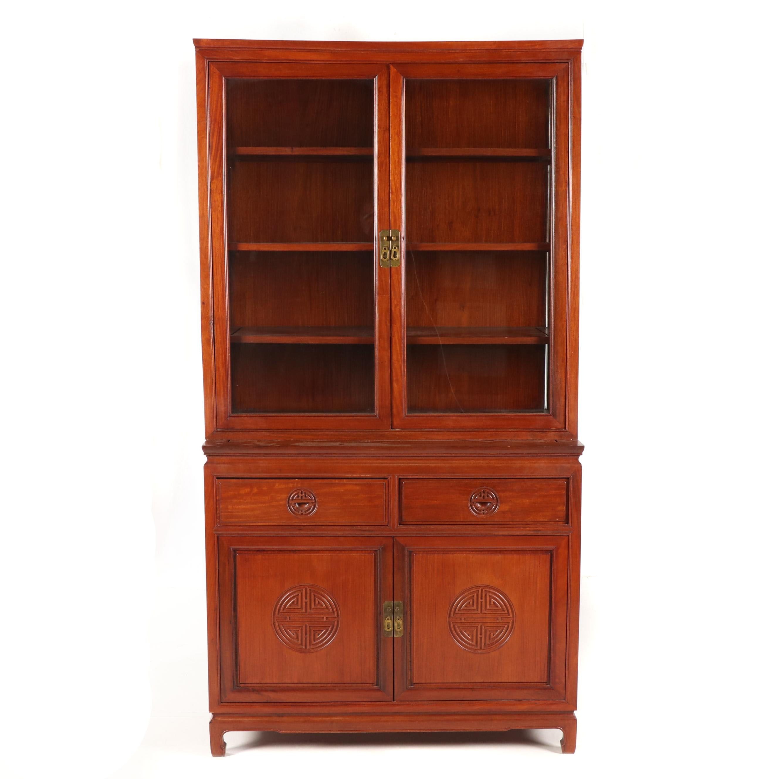Chinese Style Hardwood Cabinet, Late 20th Century