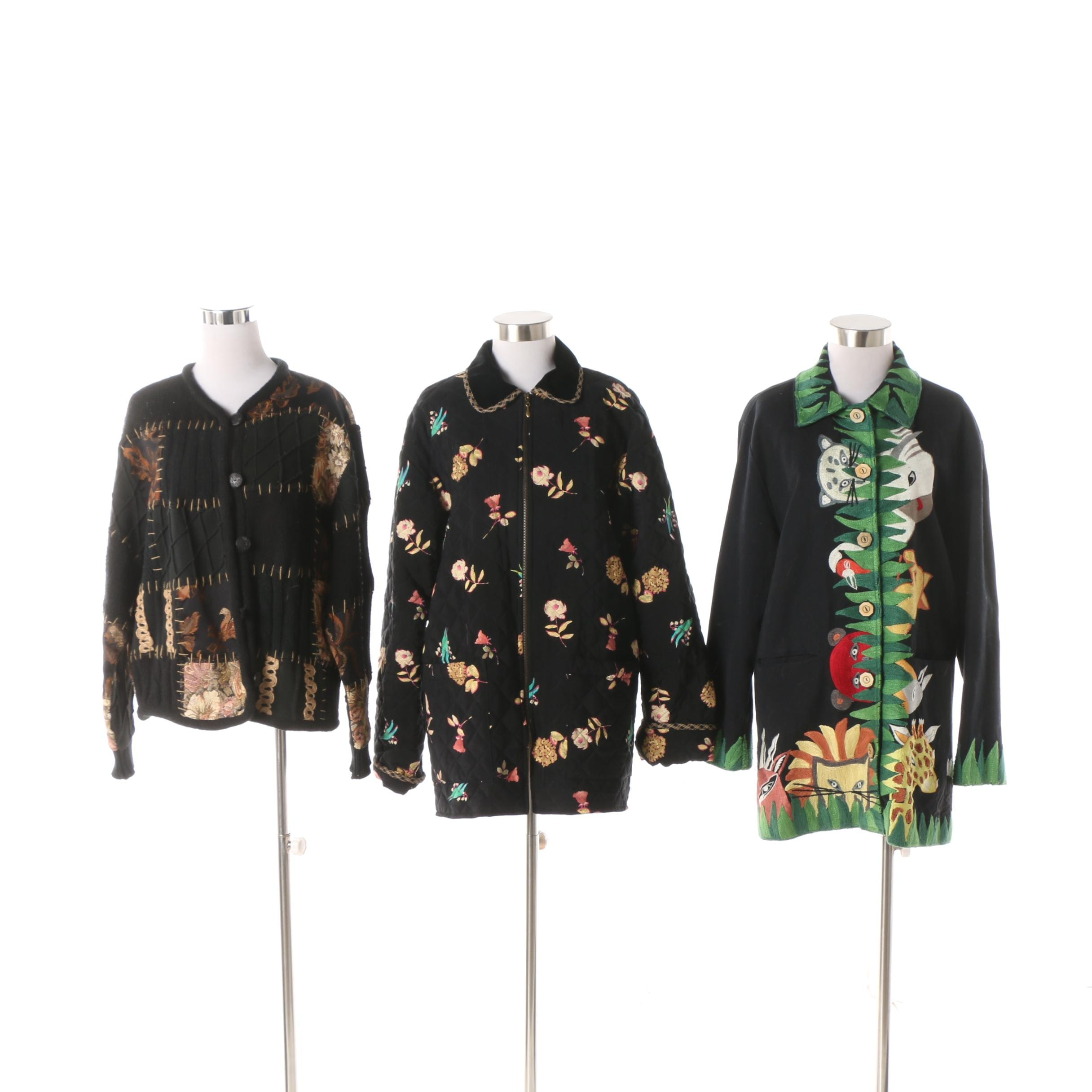 Women's Embellished Cardigan and Jackets including Sandy Starkman