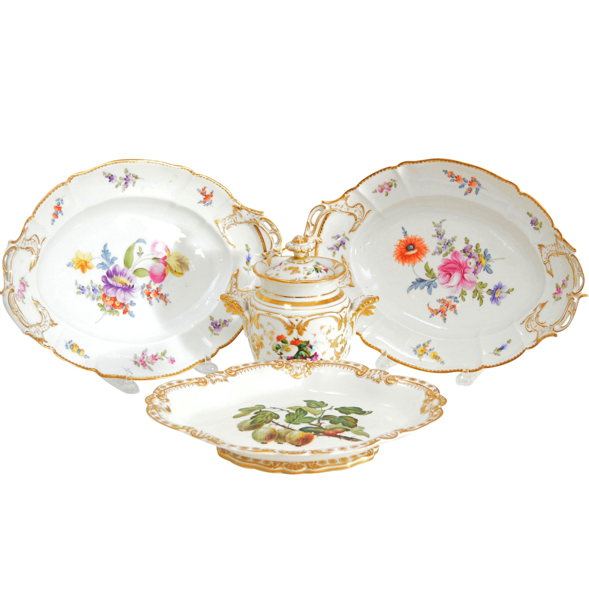 Vintage Porcelain Serveware with Nymphenburg
