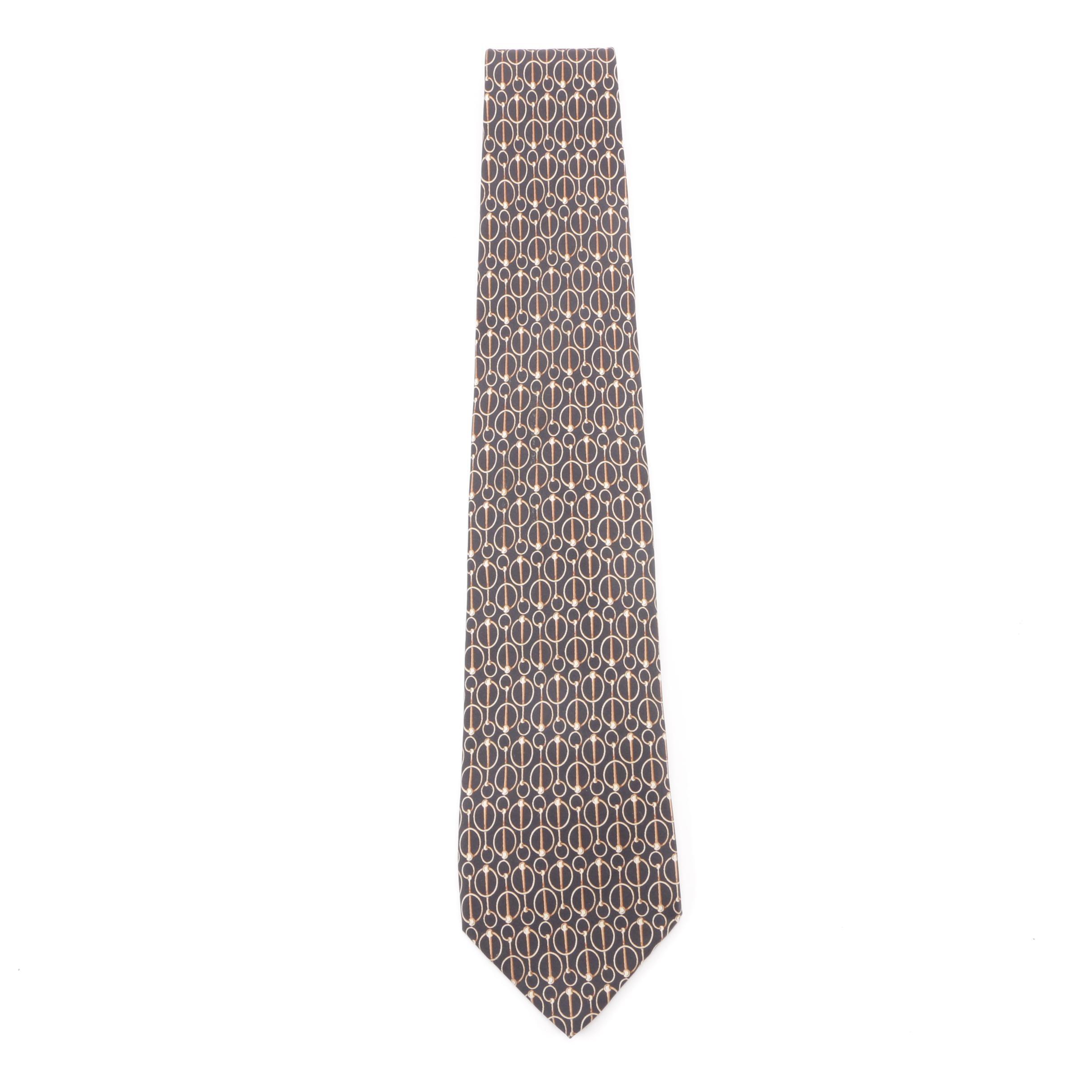 Men's Circa 1990s Gucci Silk Necktie