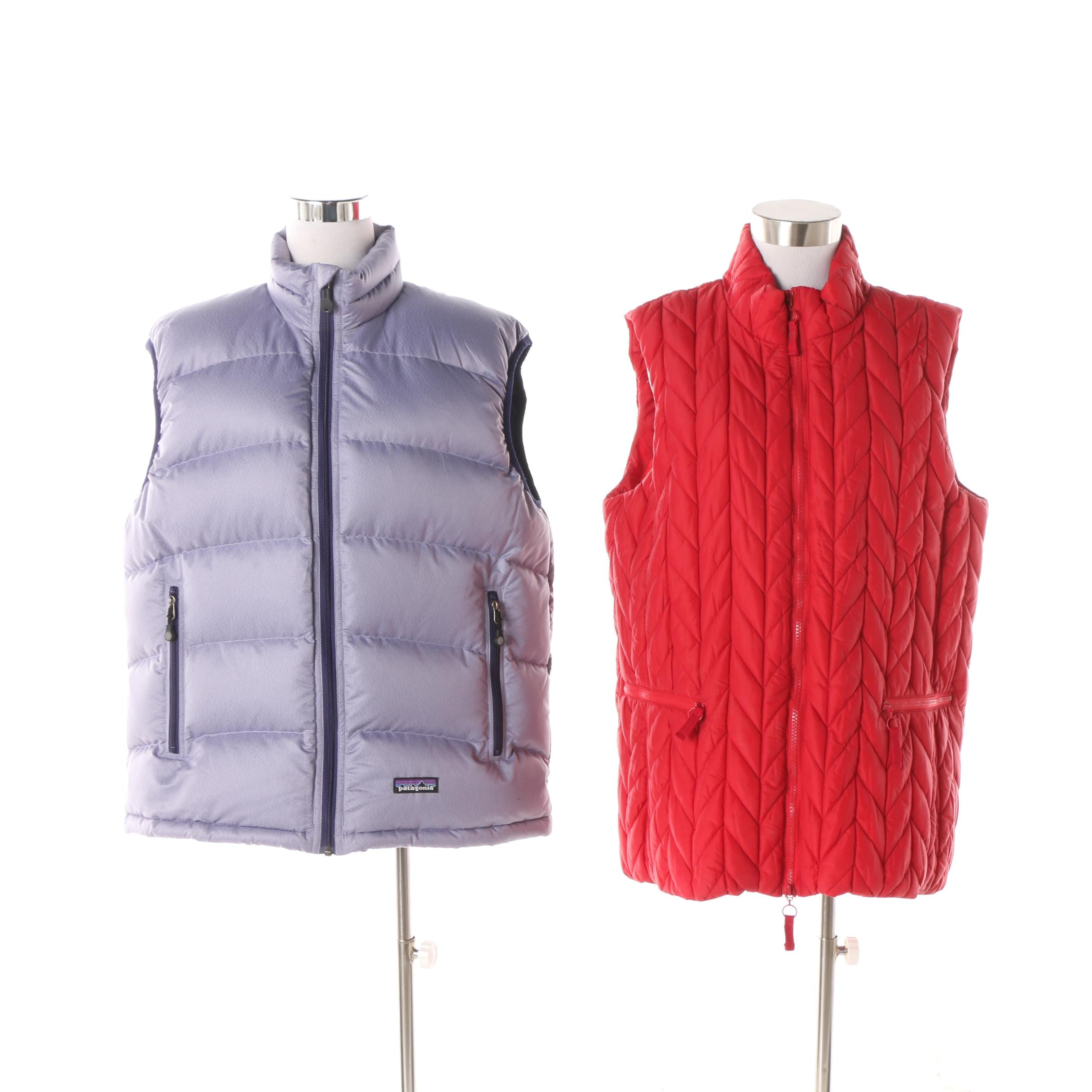 Women's Patagonia and Coldwater Creek Puffer and Quilted Vests