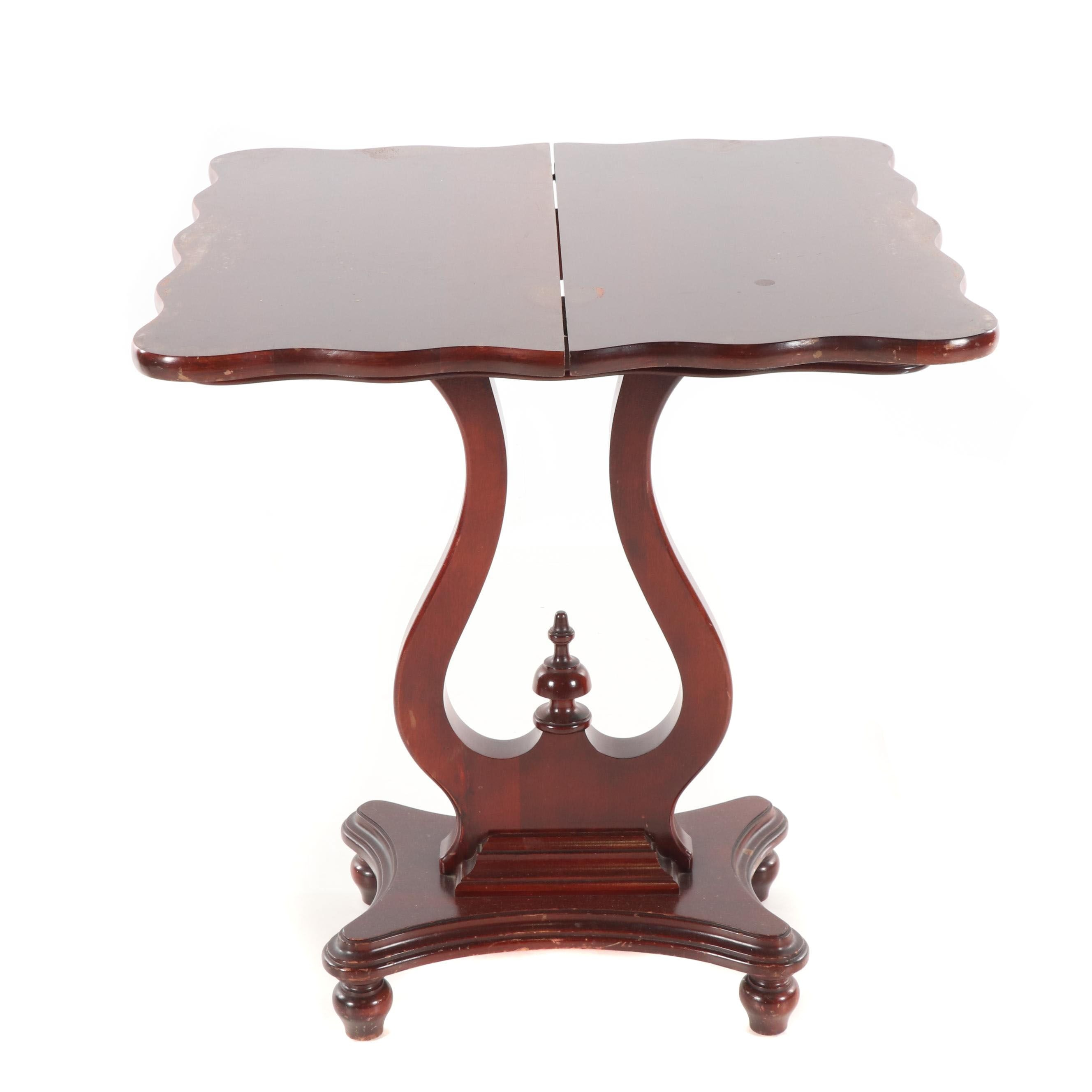 Federal Style Mahogany Flip-Top Table, Mid-20th Century
