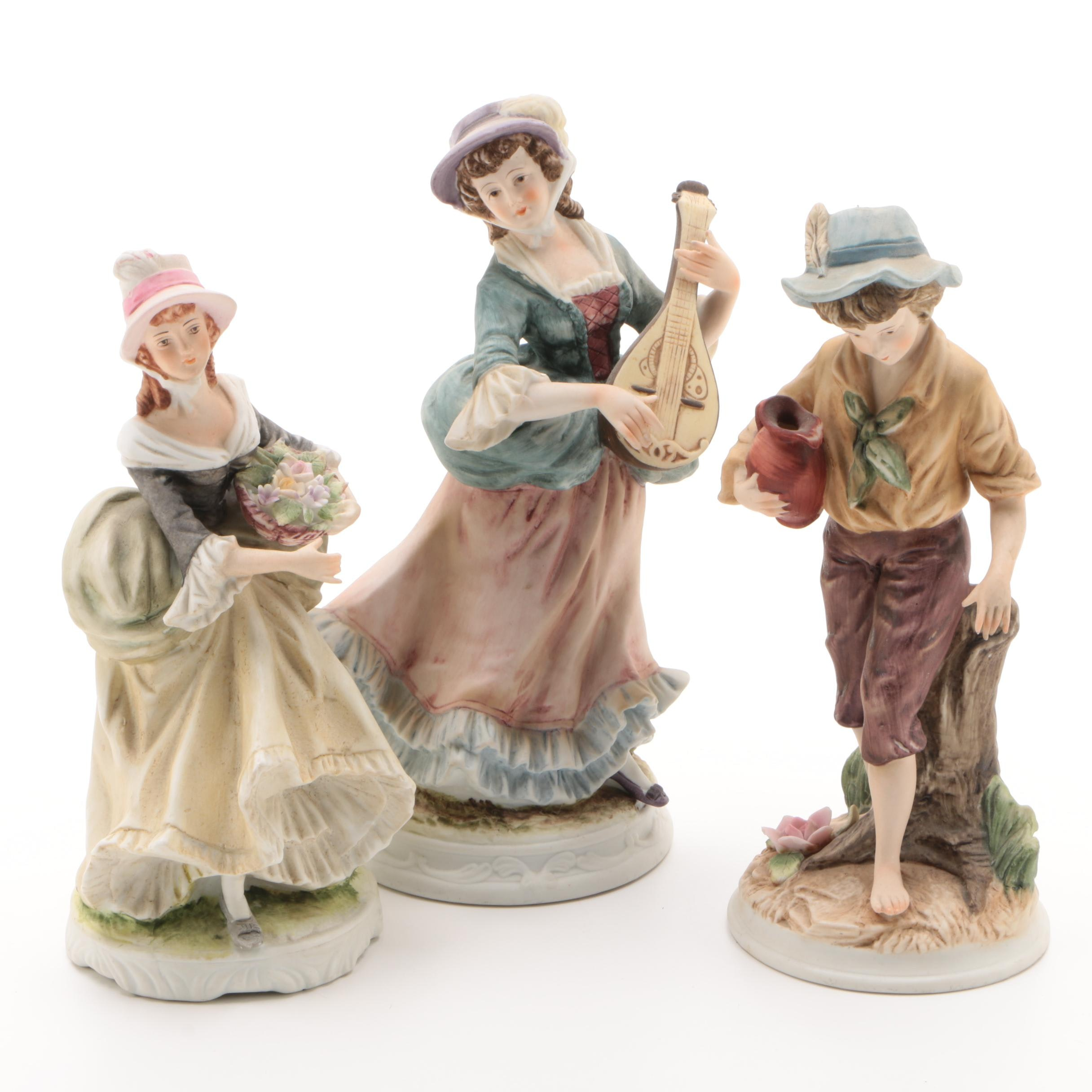 Vintage Porcelain Figurines Including Lefton