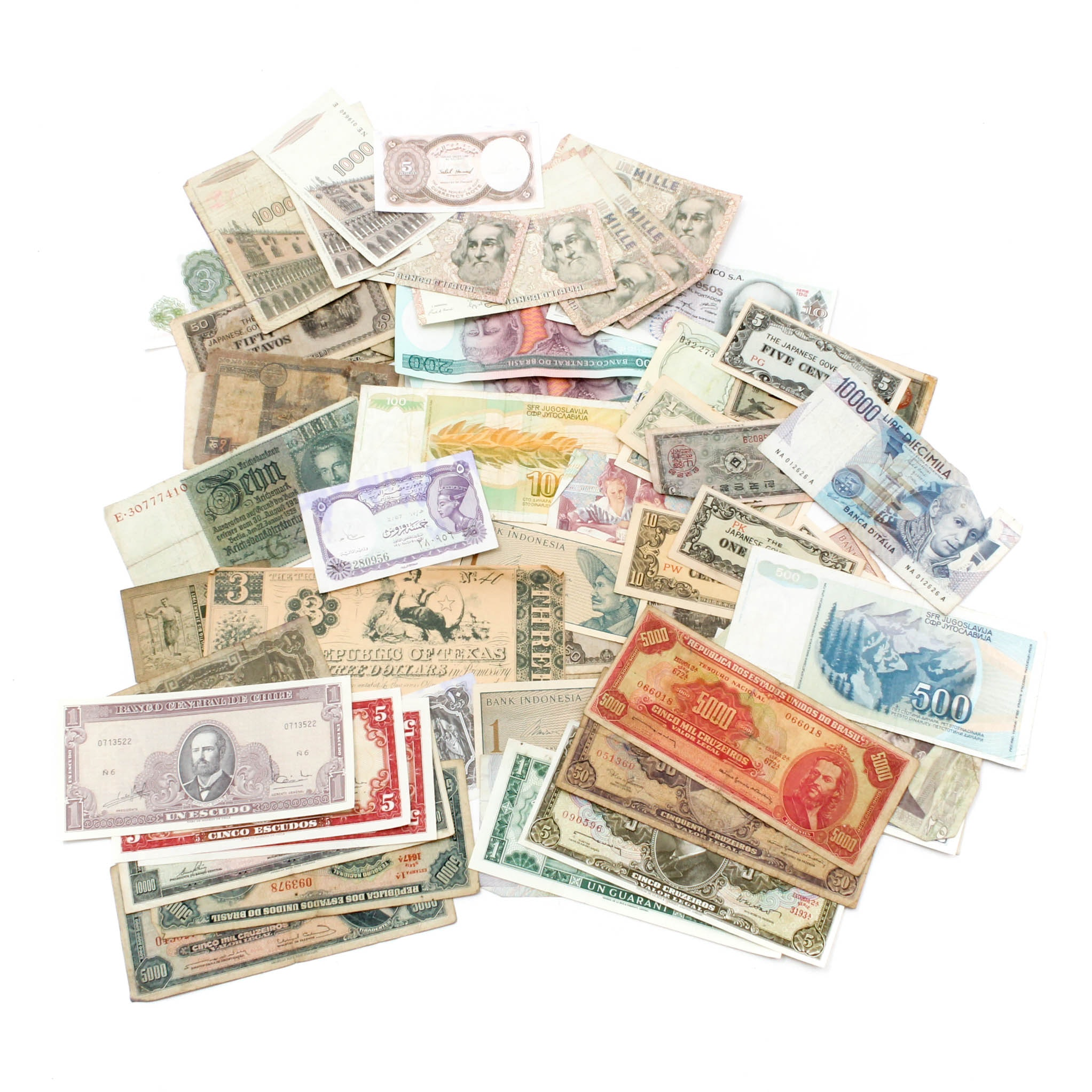 Vintage Worldwide Currency