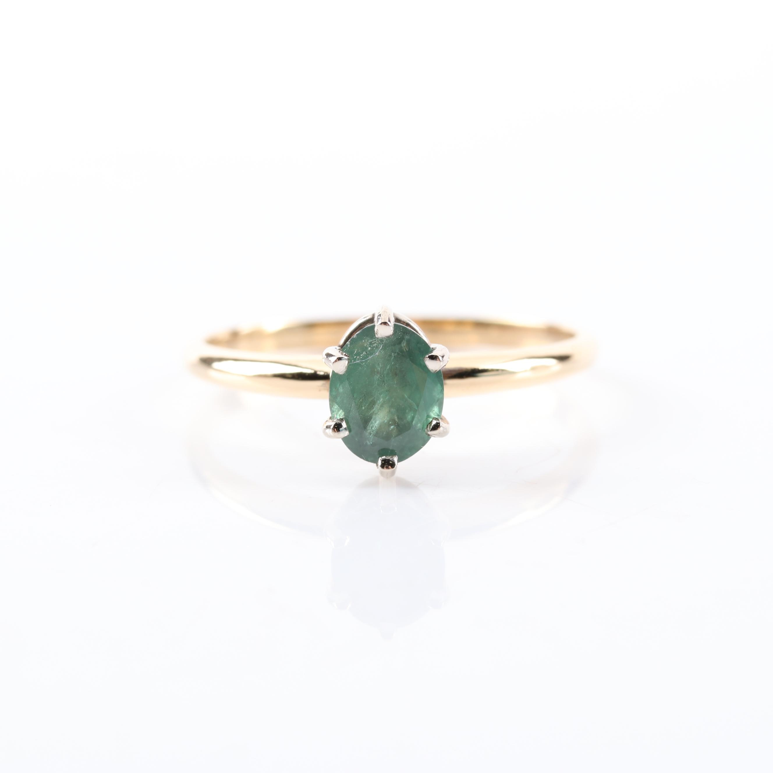 18K Yellow Gold 0.95 CT Natural Alexandrite Ring with GIA Report