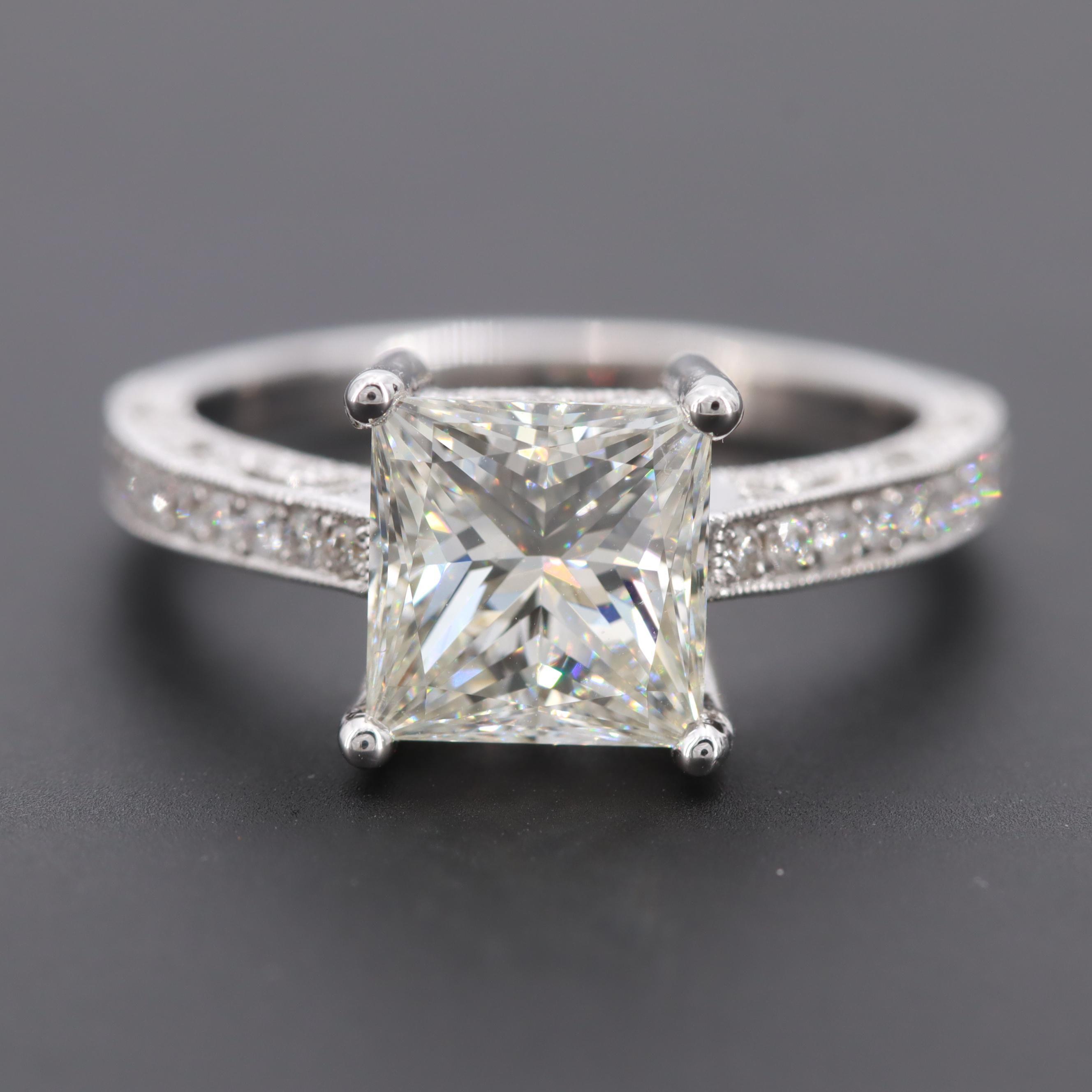 18K White Gold 2.32 CTW Diamond Ring