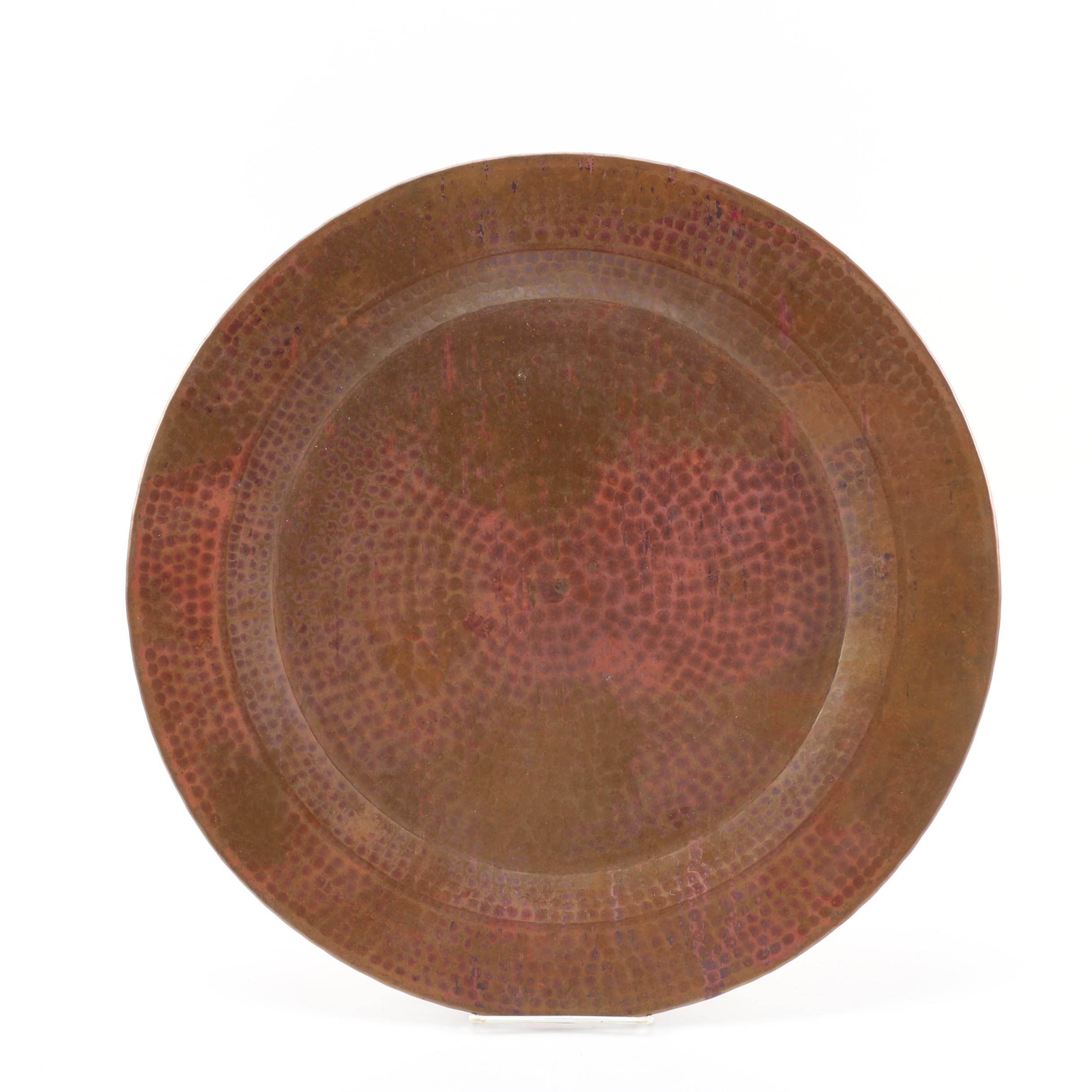 Vintage Hammered Copper Tray