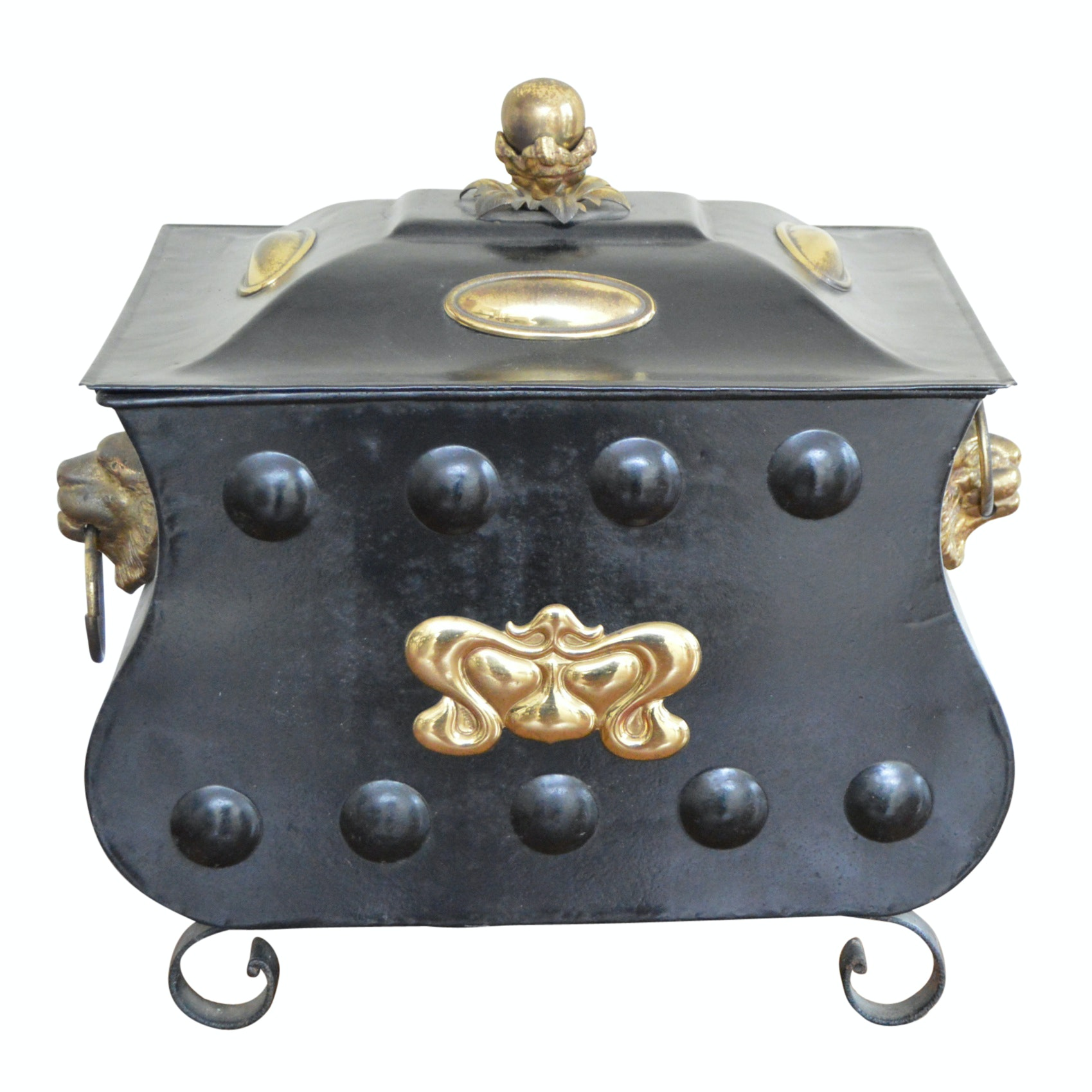 French Style Metal Coal Hod