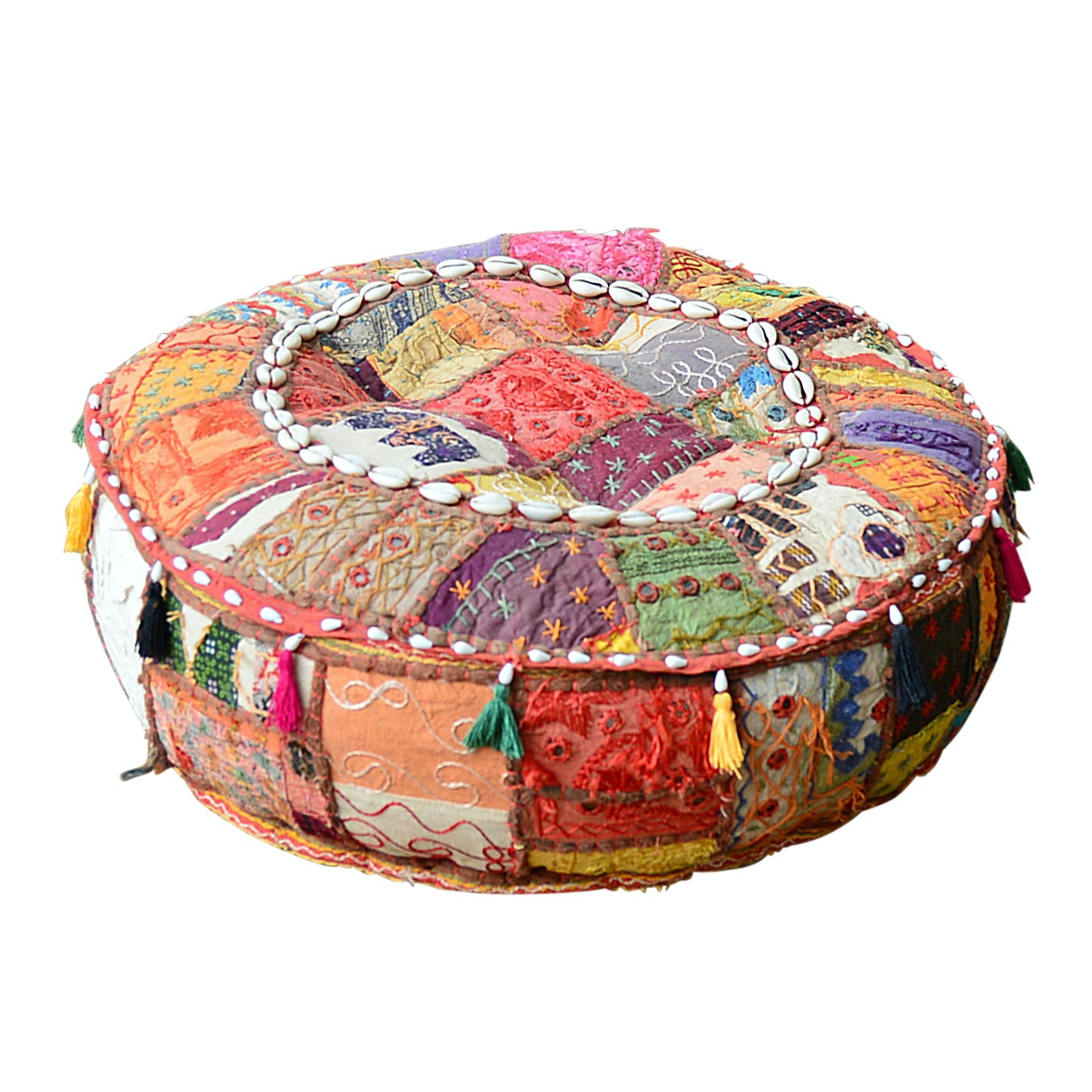 Moroccan Style Patchwork Pouf