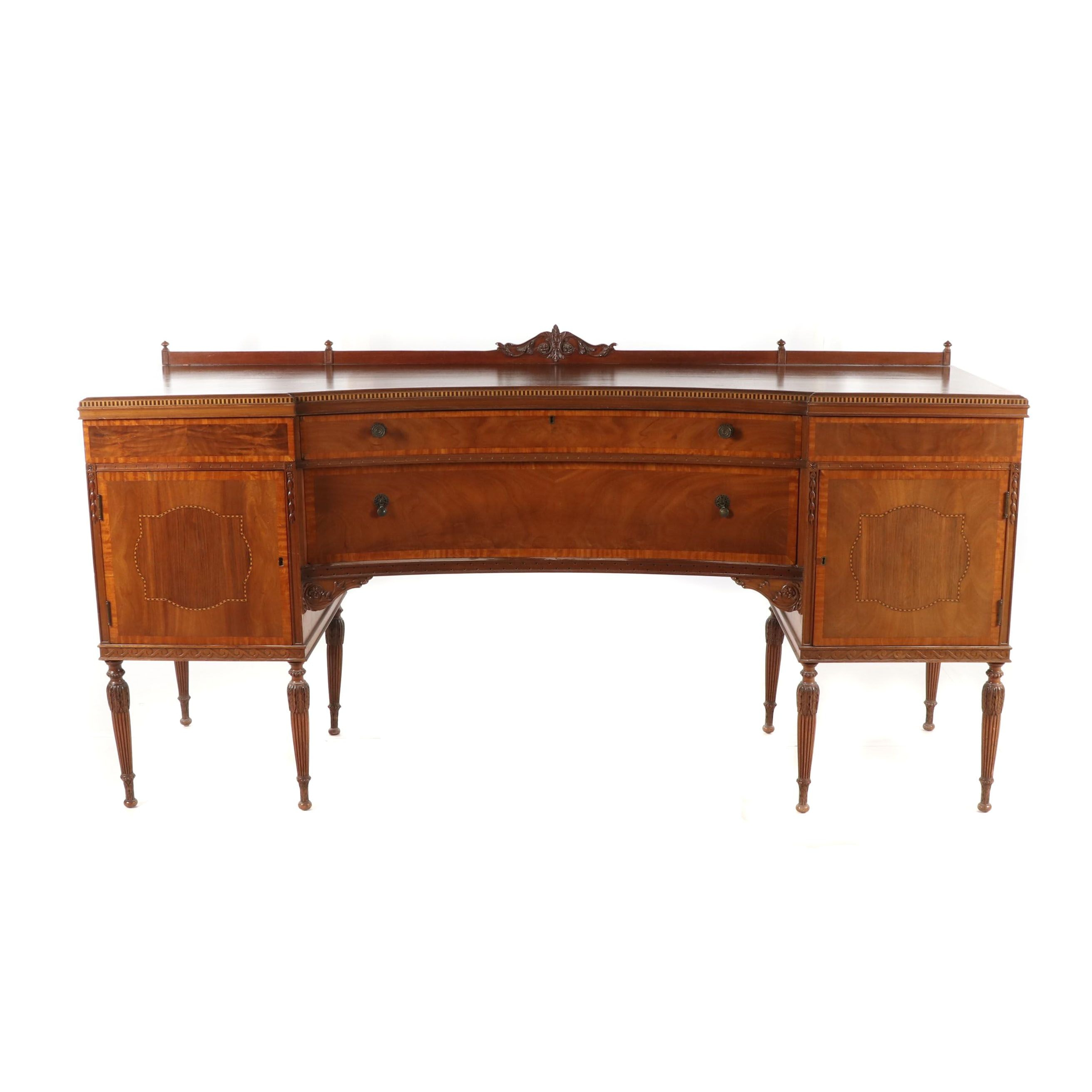 Louis XVI Style Walnut Sideboard, Late 19th Century