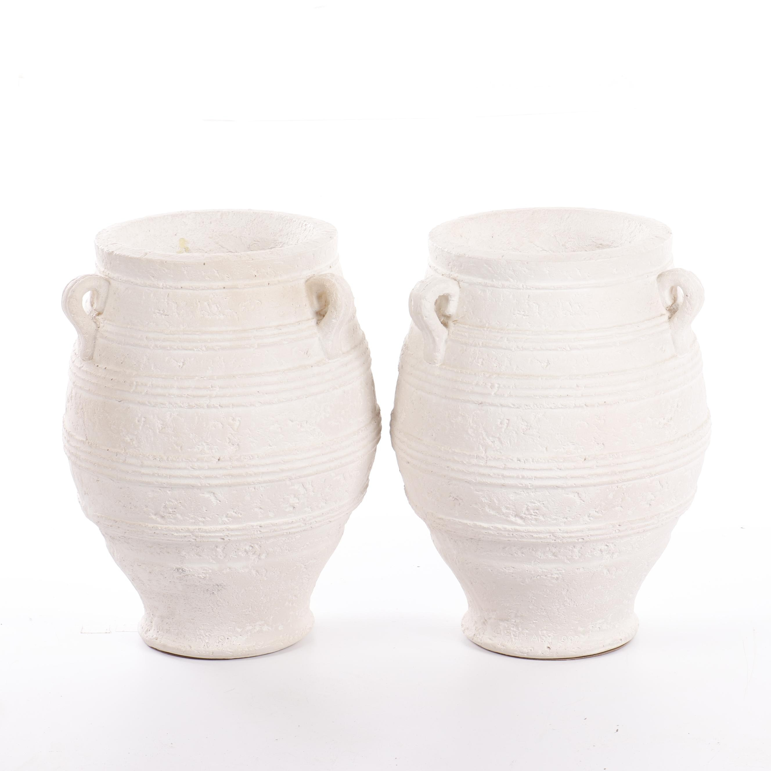 Textured Urn Form Planters