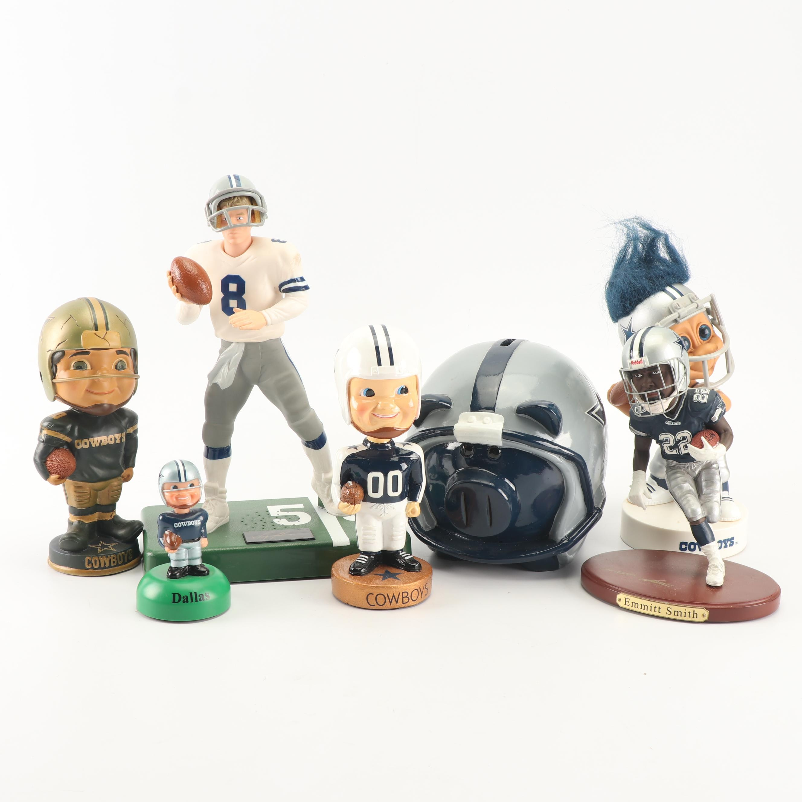 Dallas Cowboy's Bobbleheads and Figurines Including Emmitt Smith