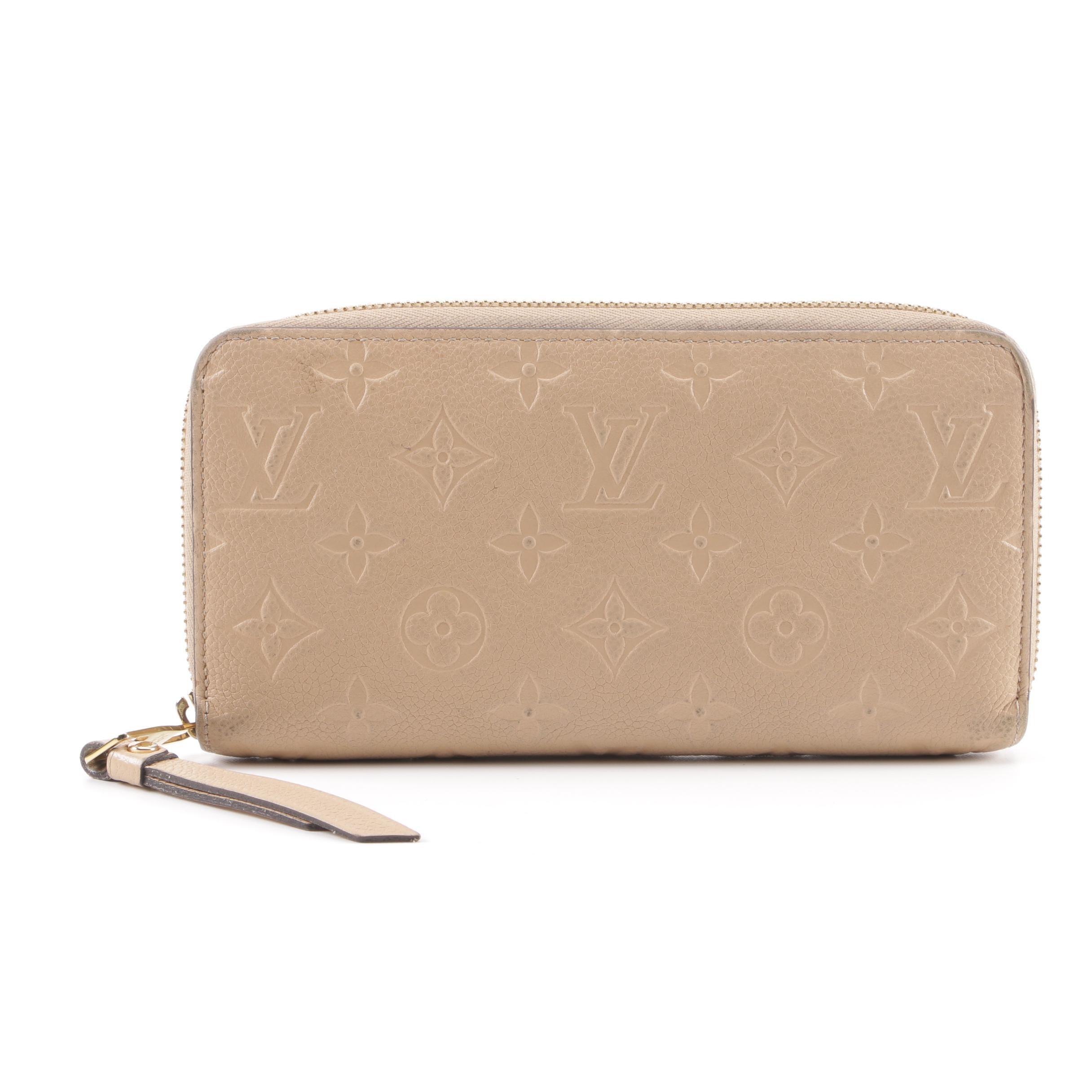 2015 Louis Vuitton Monogram Dune Empreinte Leather Secret Long Wallet