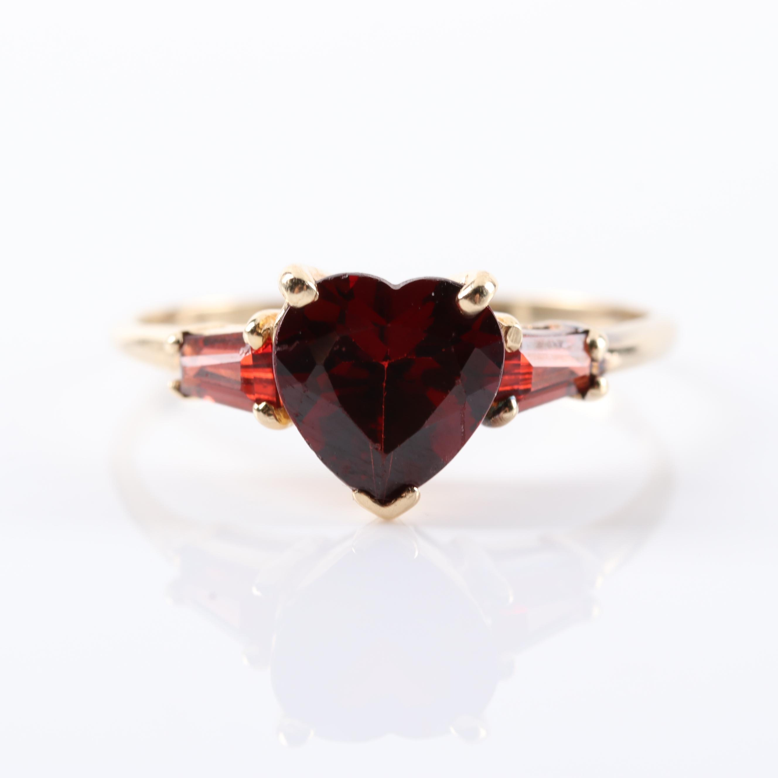 14K Yellow Gold 2.60 CTW Garnet Ring