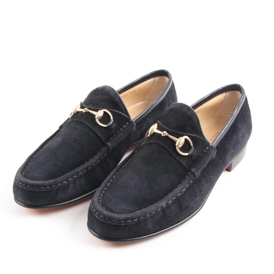 Women S Gucci Black Suede Horsebit Loafers Ebth