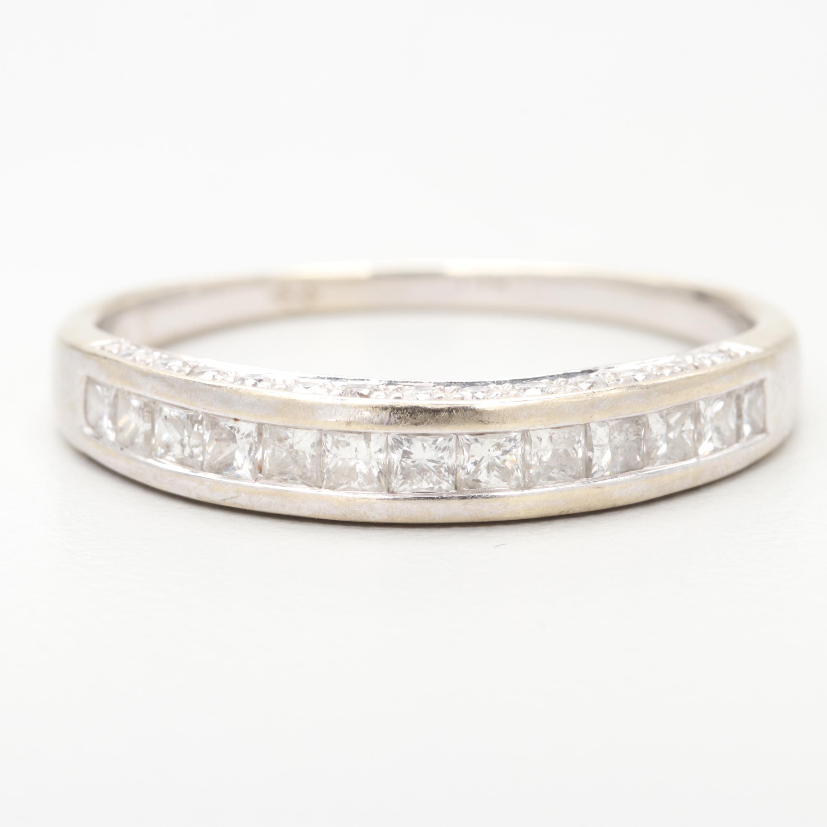 Tolkowsky 14K White Gold 0.91 CTW Diamond Ring