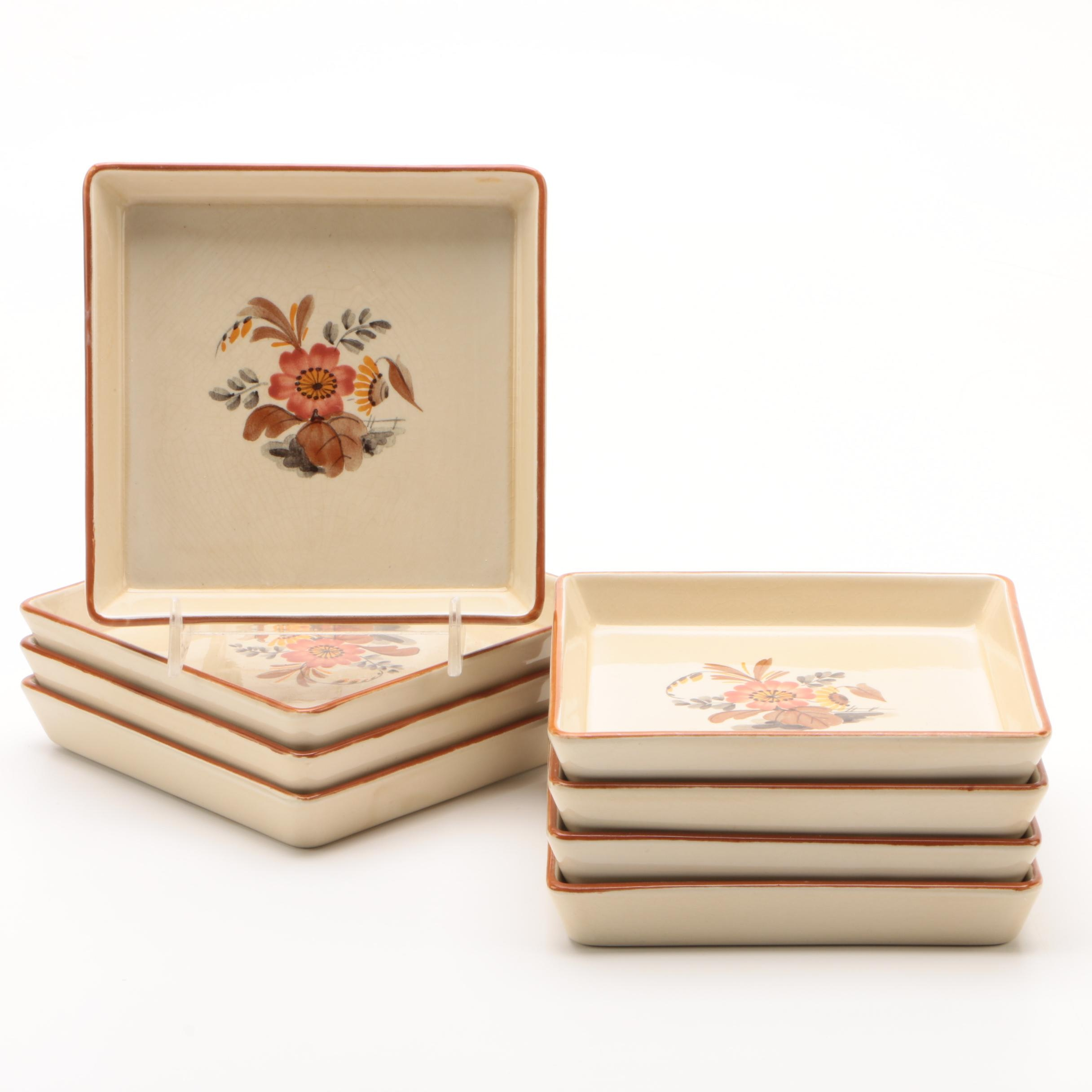"Danish Aluminia ""Knud"" Porcelain Pickle Plates, Circa 1920s"