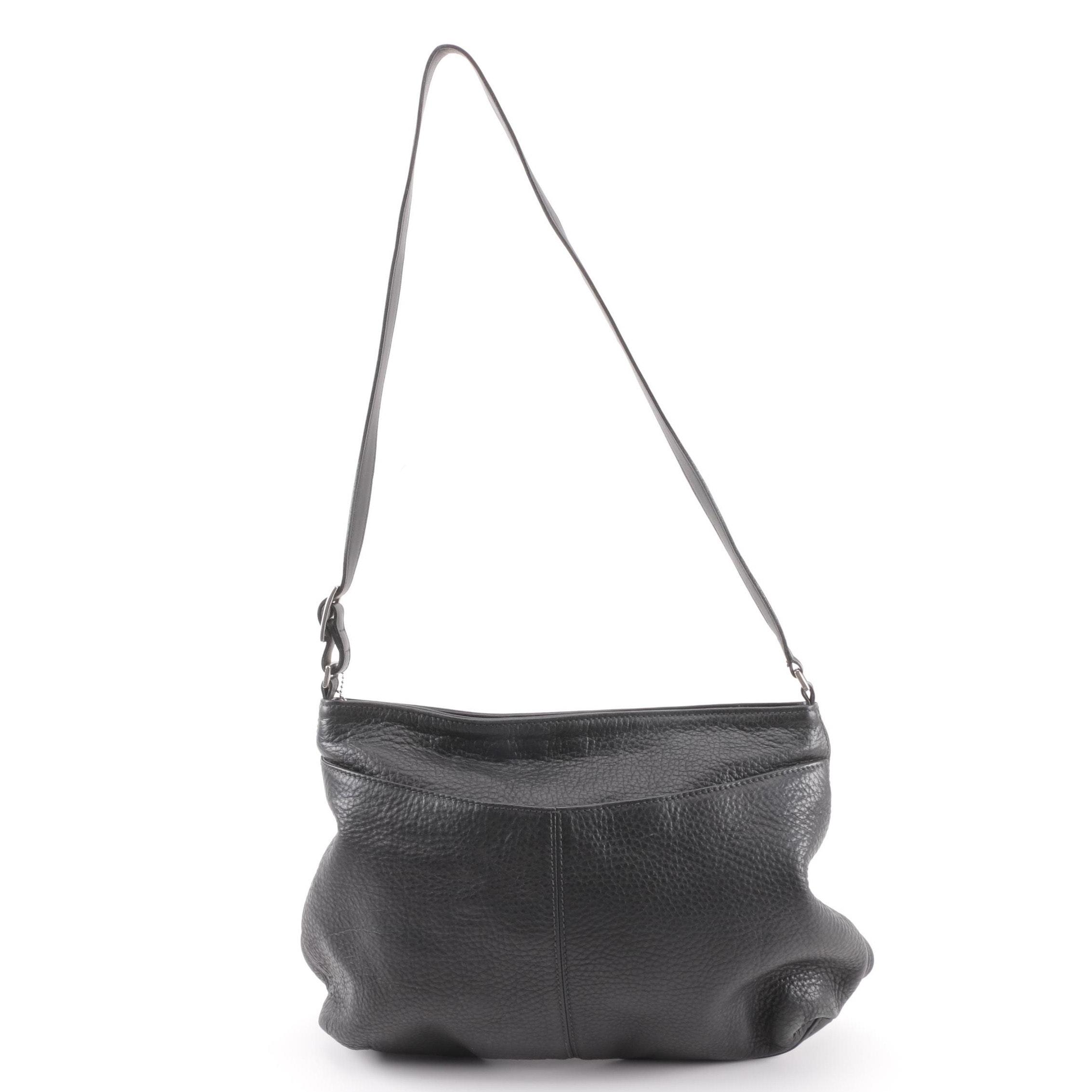 1998 Coach Black Pebbled Leather Shoulder Bag