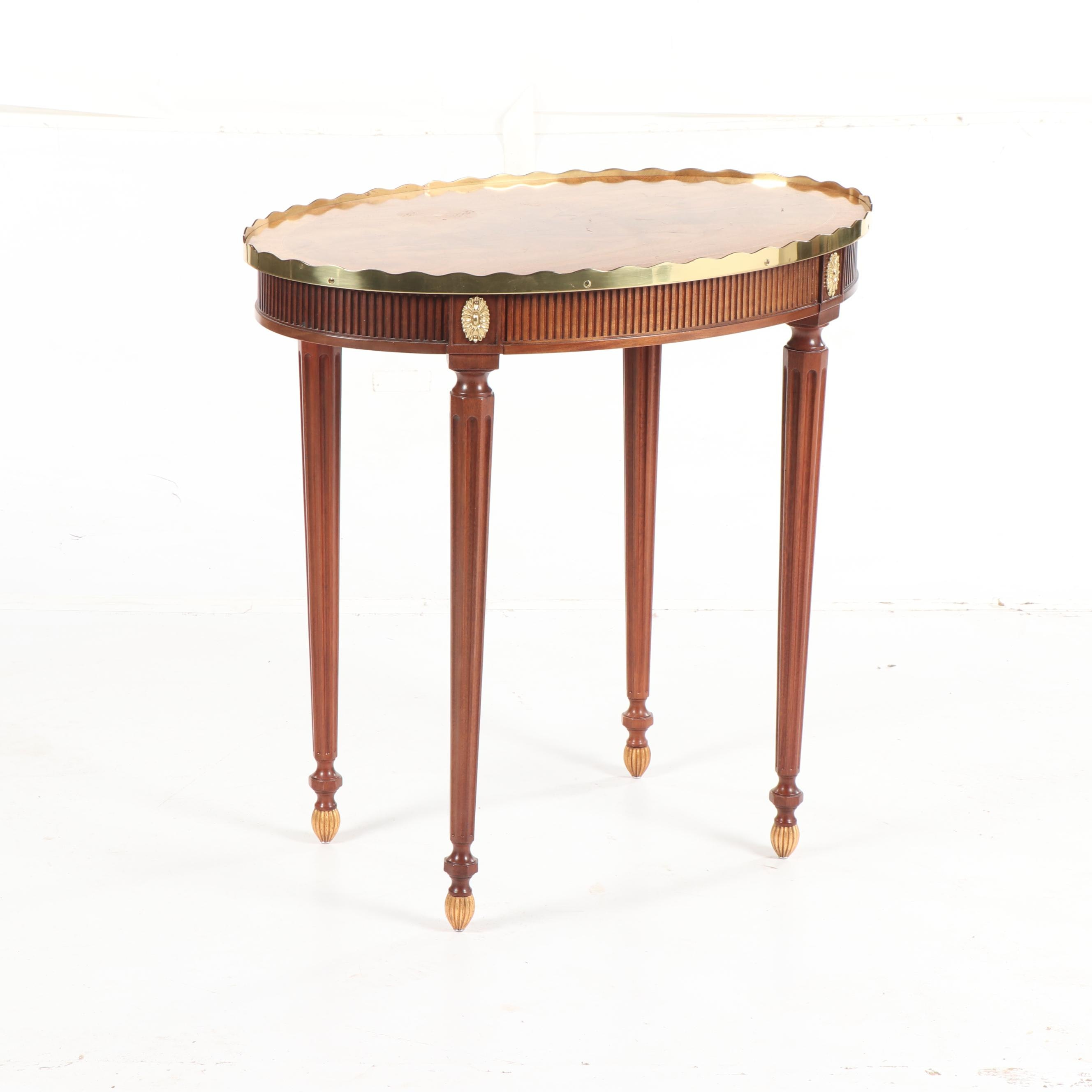 """Stately Homes"" Adam Style Mahogany & Santos Rosewood Oval Table, 20th Century"