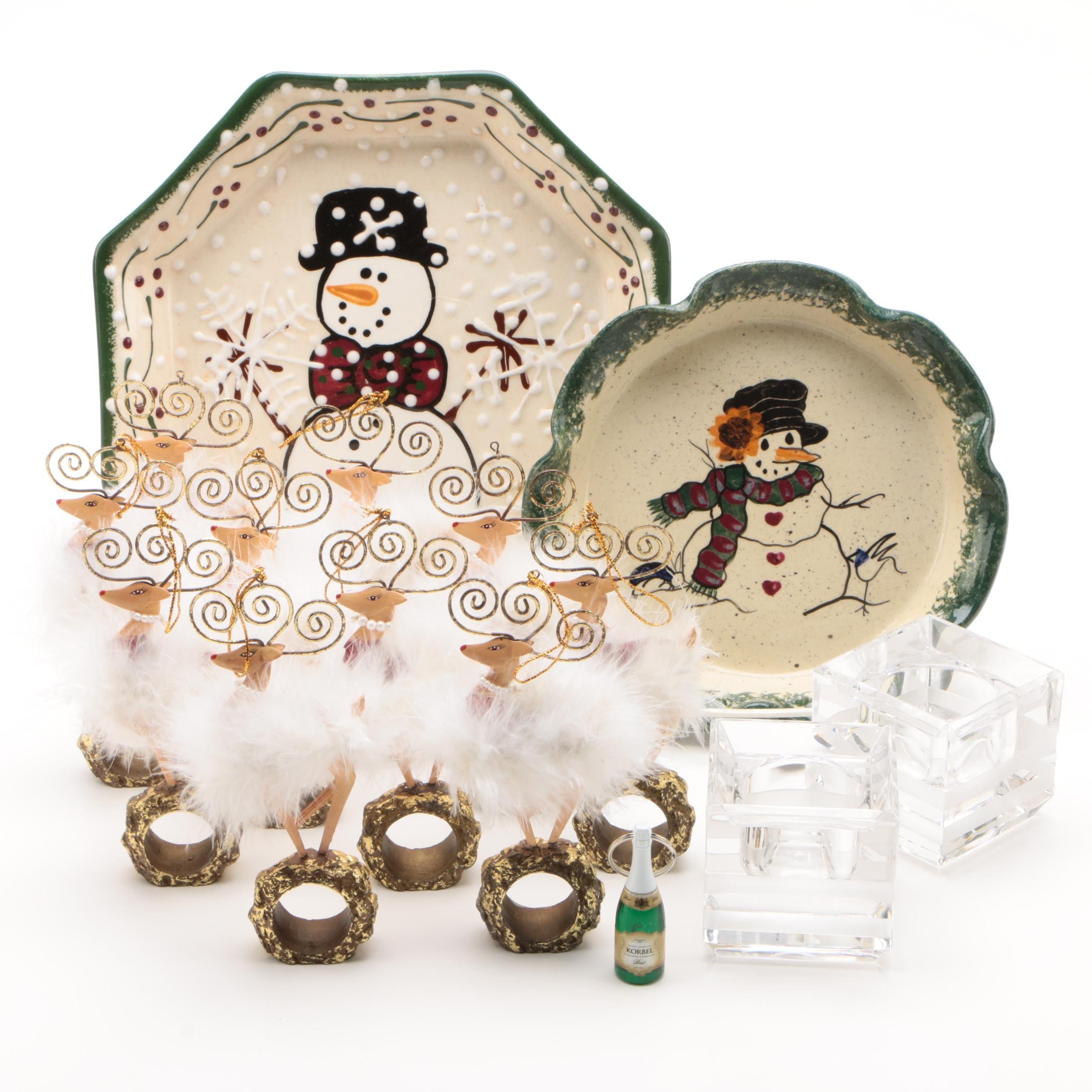 Wedgwood Vera Wang Crystal Votives with Holiday Plates and Other Decor