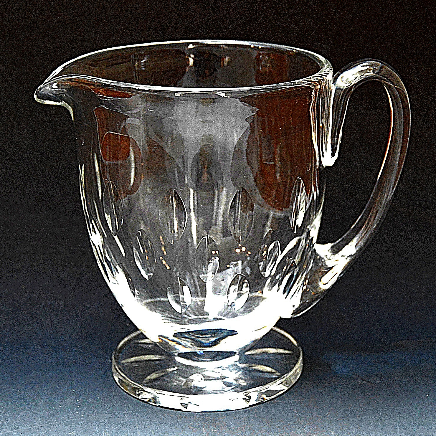 Lalique Crystal Pitcher