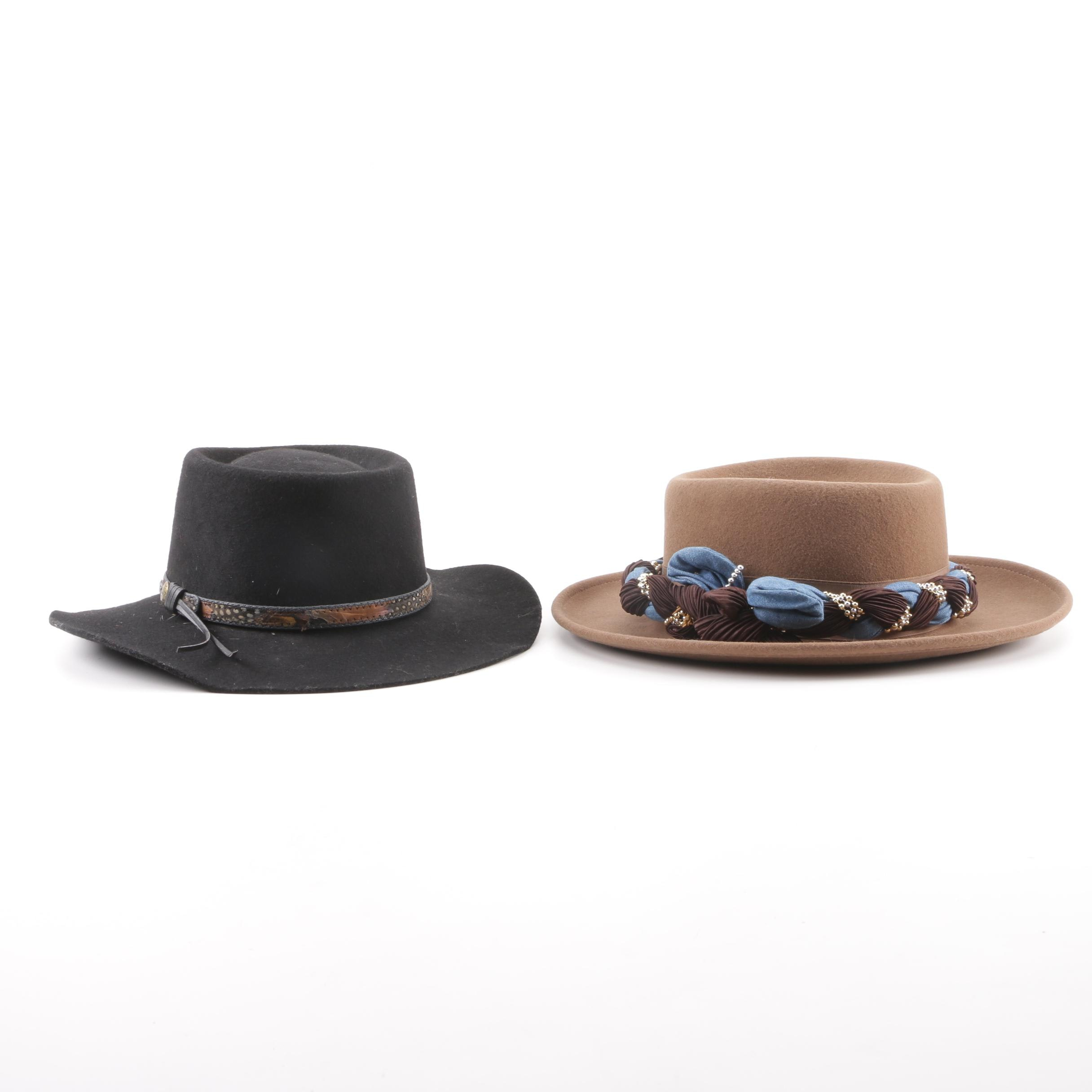 Outback Trading Company Fur Felt and Dorfman Pacific Wool Felt Hats