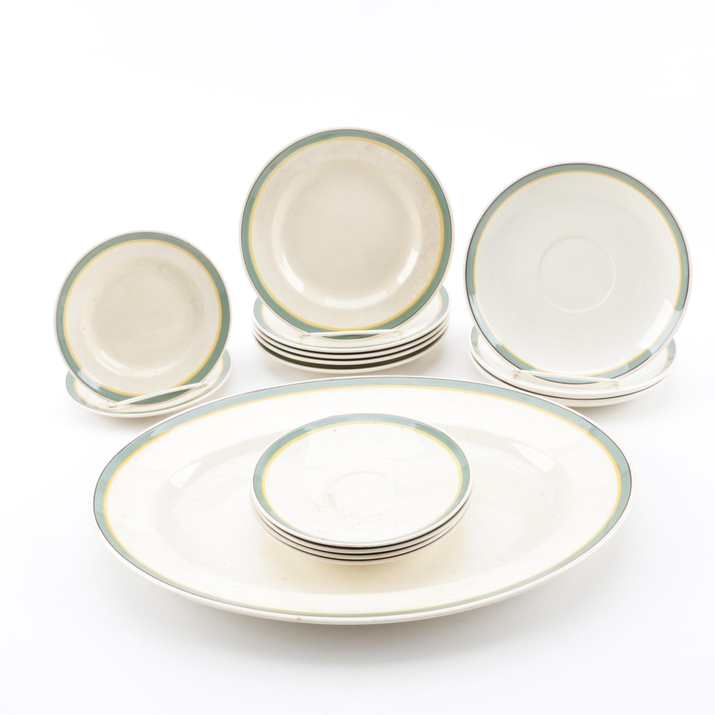 "Royal Copenhagen Aluminia ""Valdemar"" Earthenware Dinnerware, 1934"