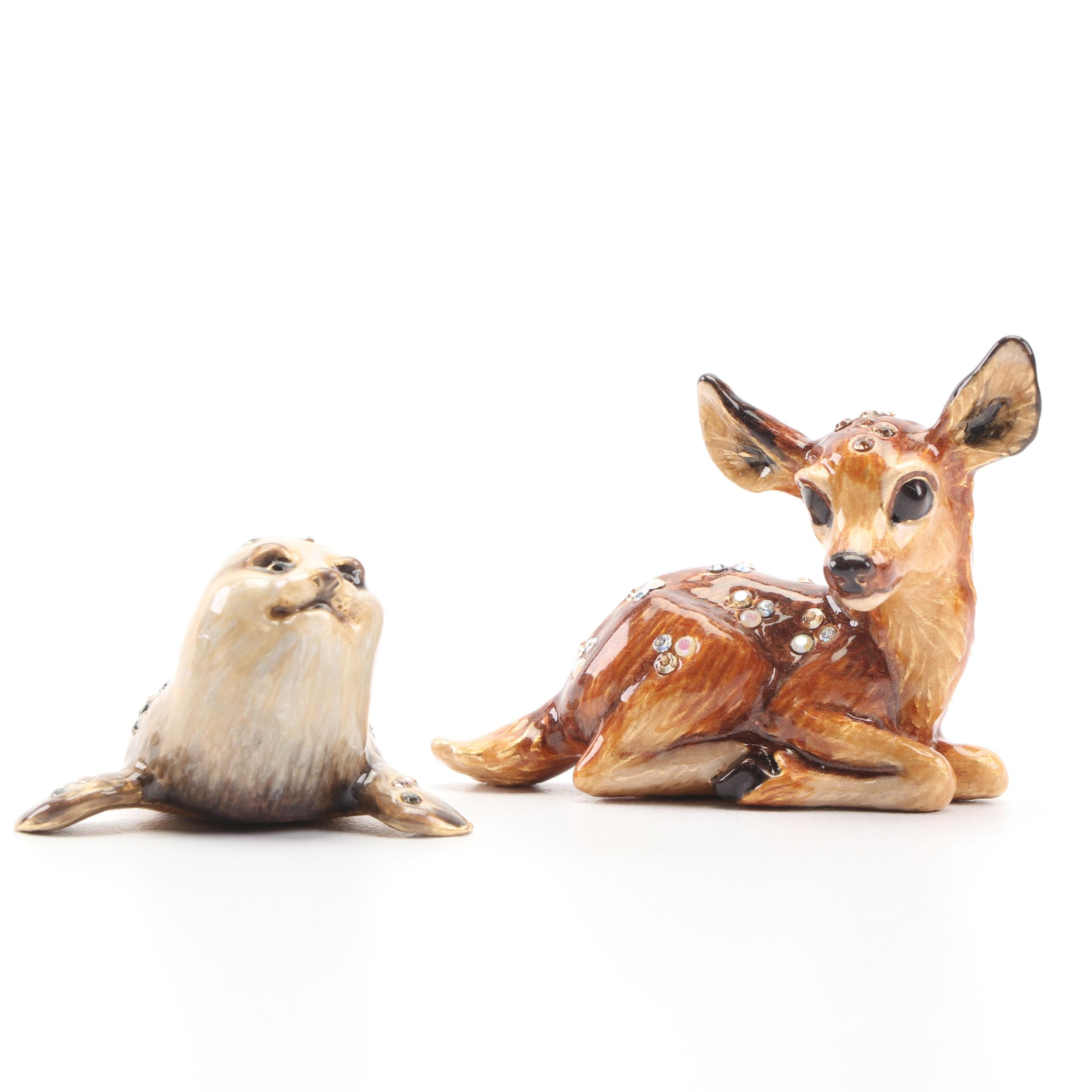 Jay Strongwater Enameled Animal Figurines