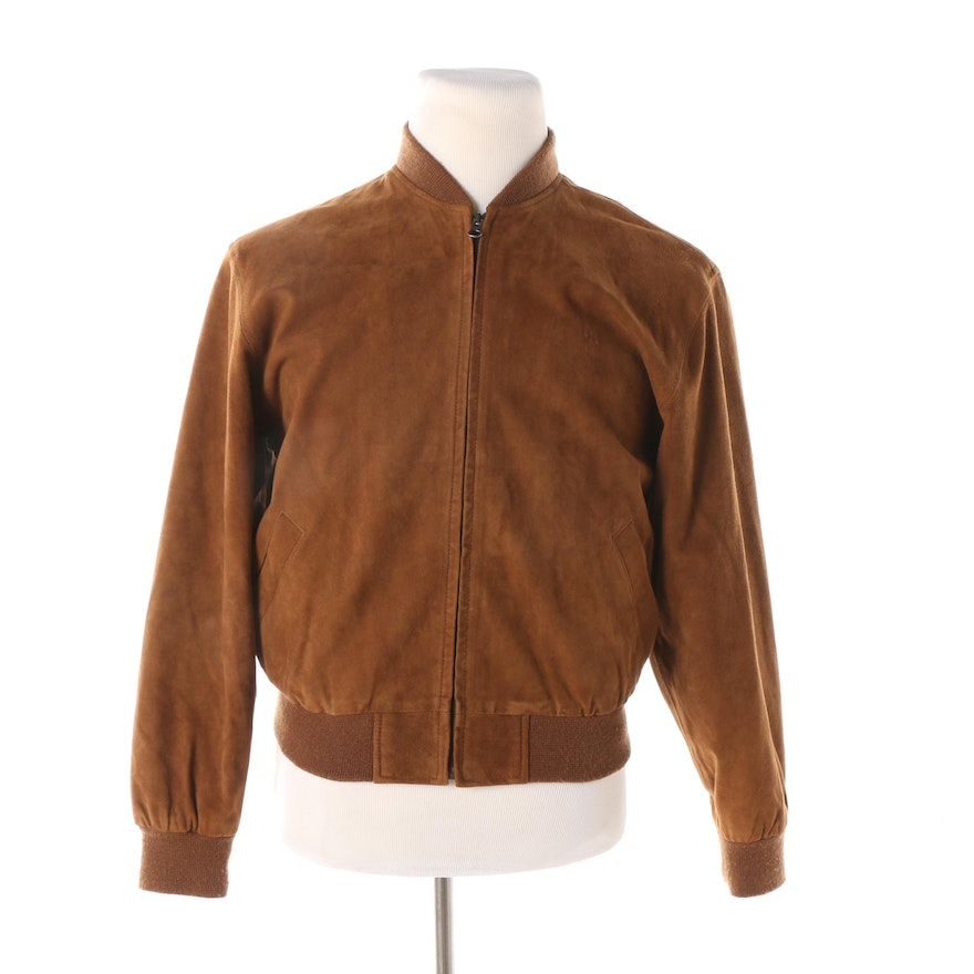 7993dcbee52a81 Men s Vintage Polo by Ralph Lauren Brown Suede Bomber Jacket