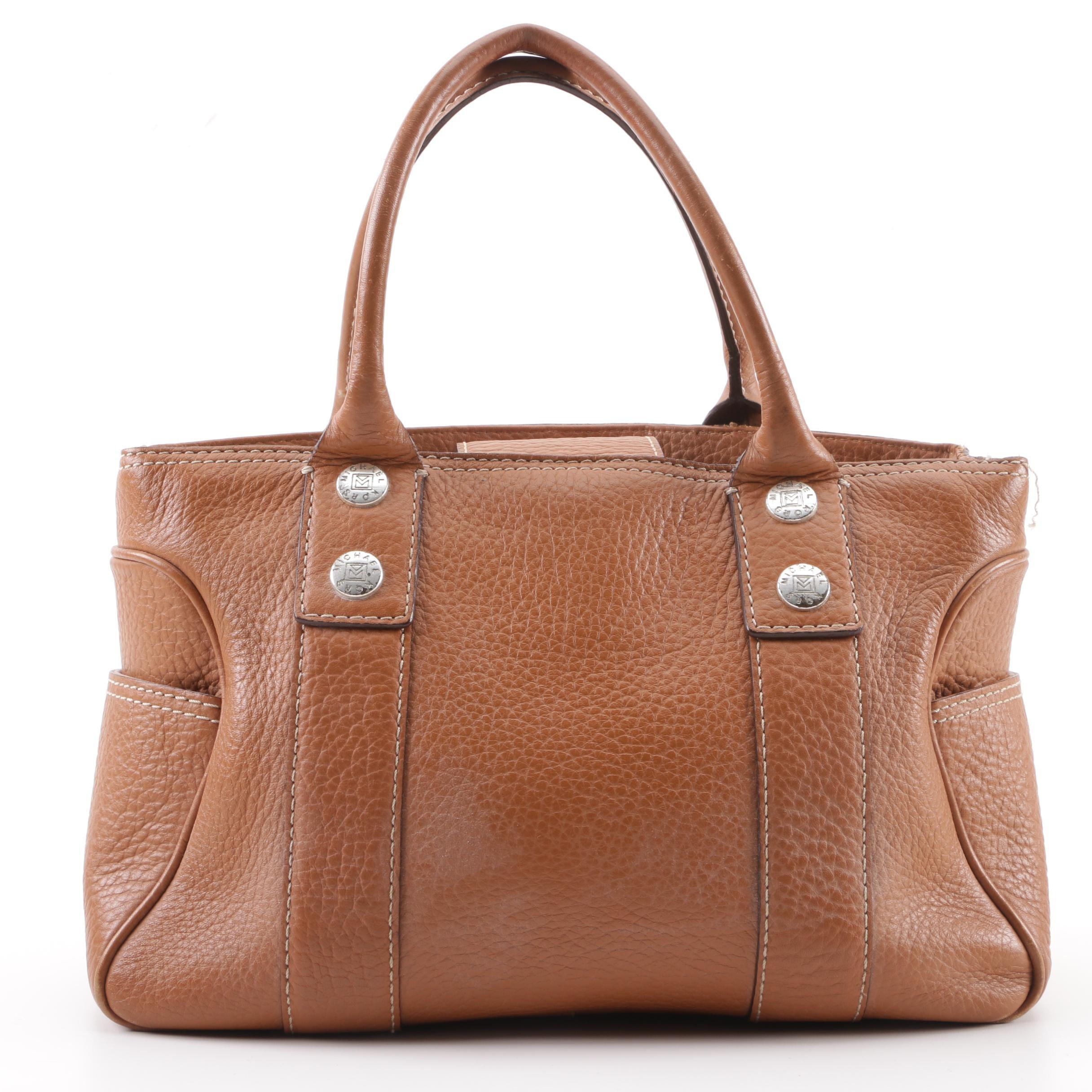 MICHAEL Michael Kors Brown Pebbled Leather Handbag