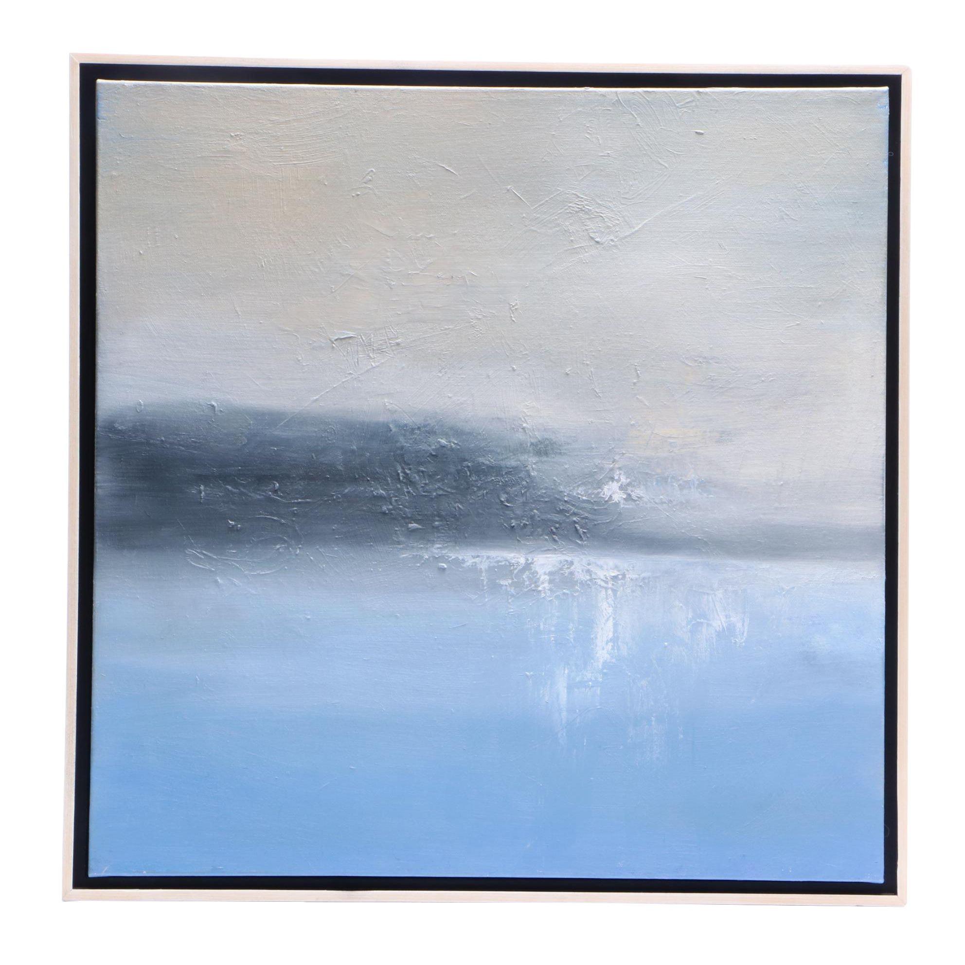 "Sarah Brown 2018 Abstract Oil Painting ""Soft Horizon"""