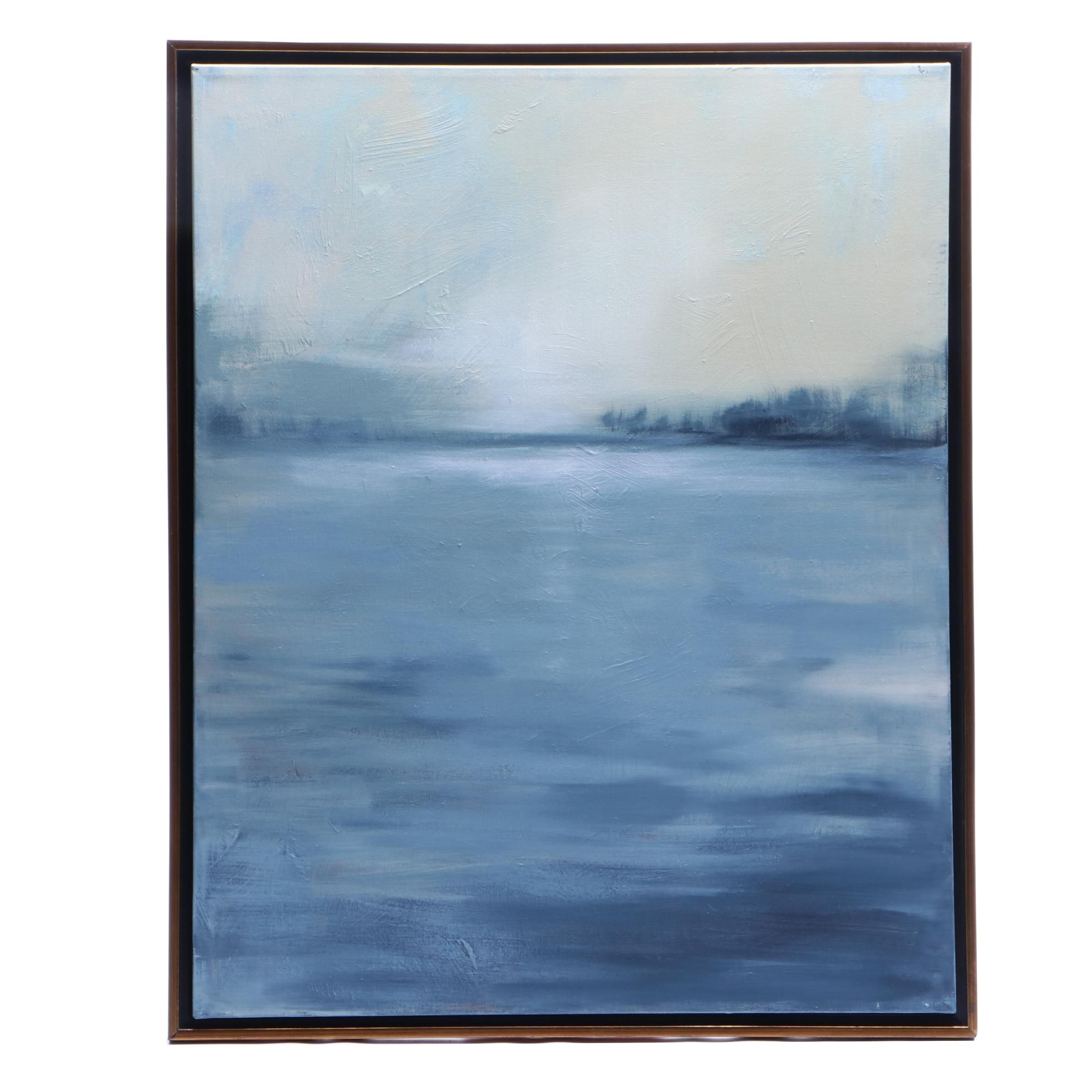"""Sarah Brown 2018 Abstract Acrylic Painting """"Gray Morning"""""""
