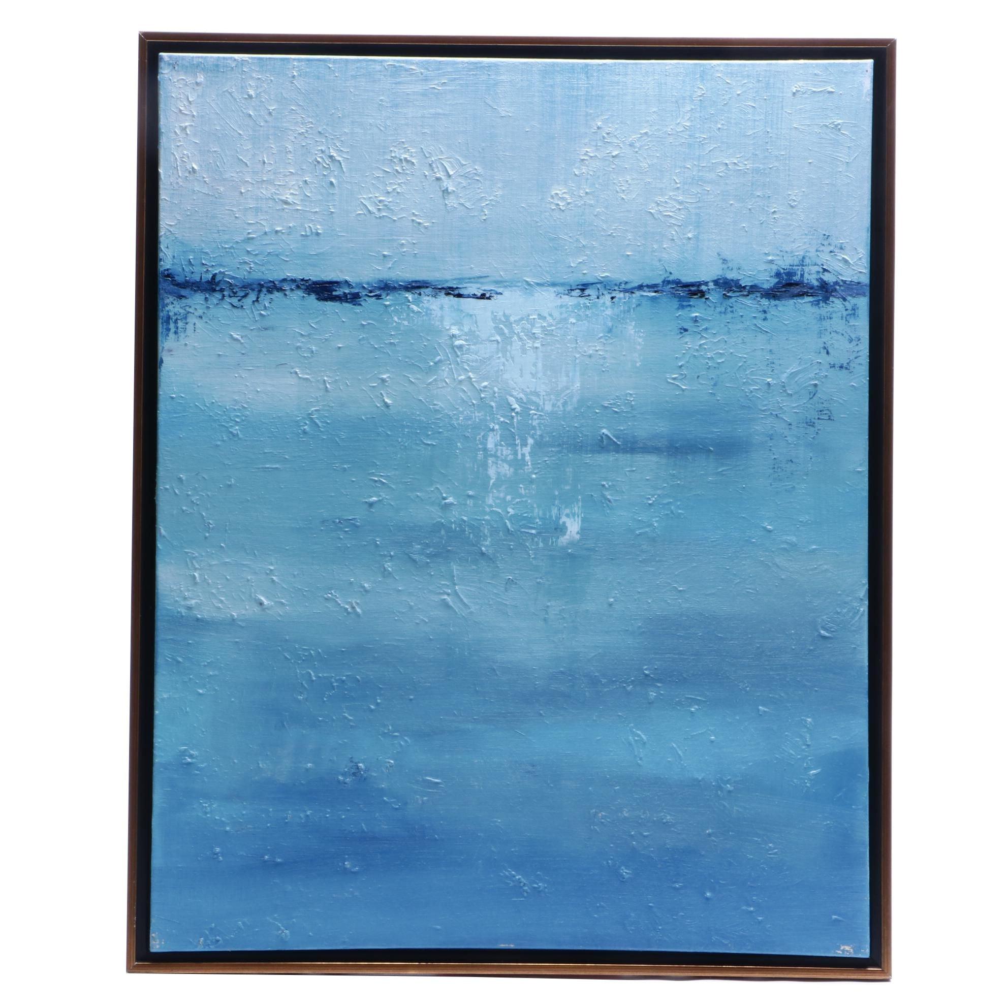 "Sarah Brown 2016 Abstract Oil Painting ""Rain Storm"""