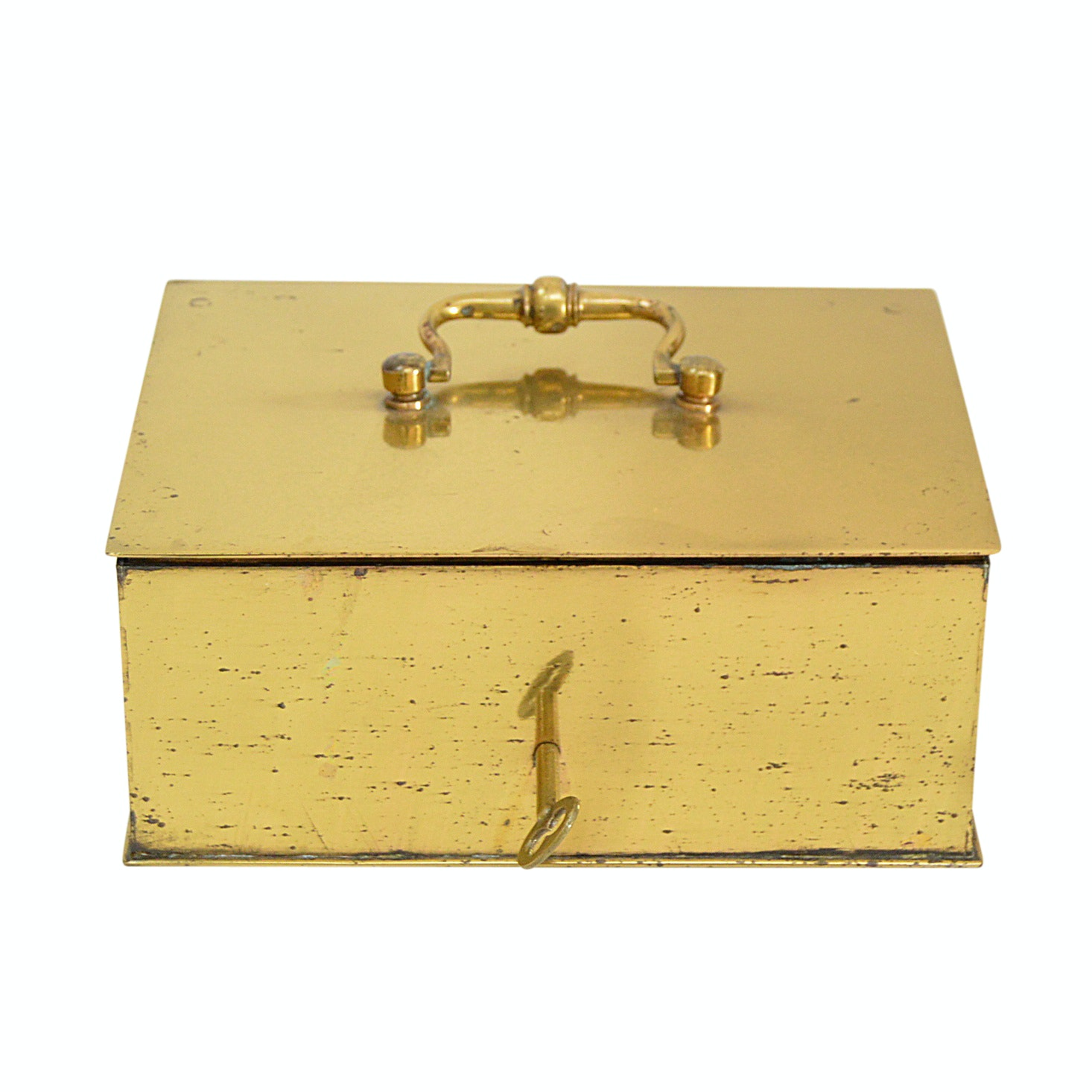 Vintage Brass Lock Box