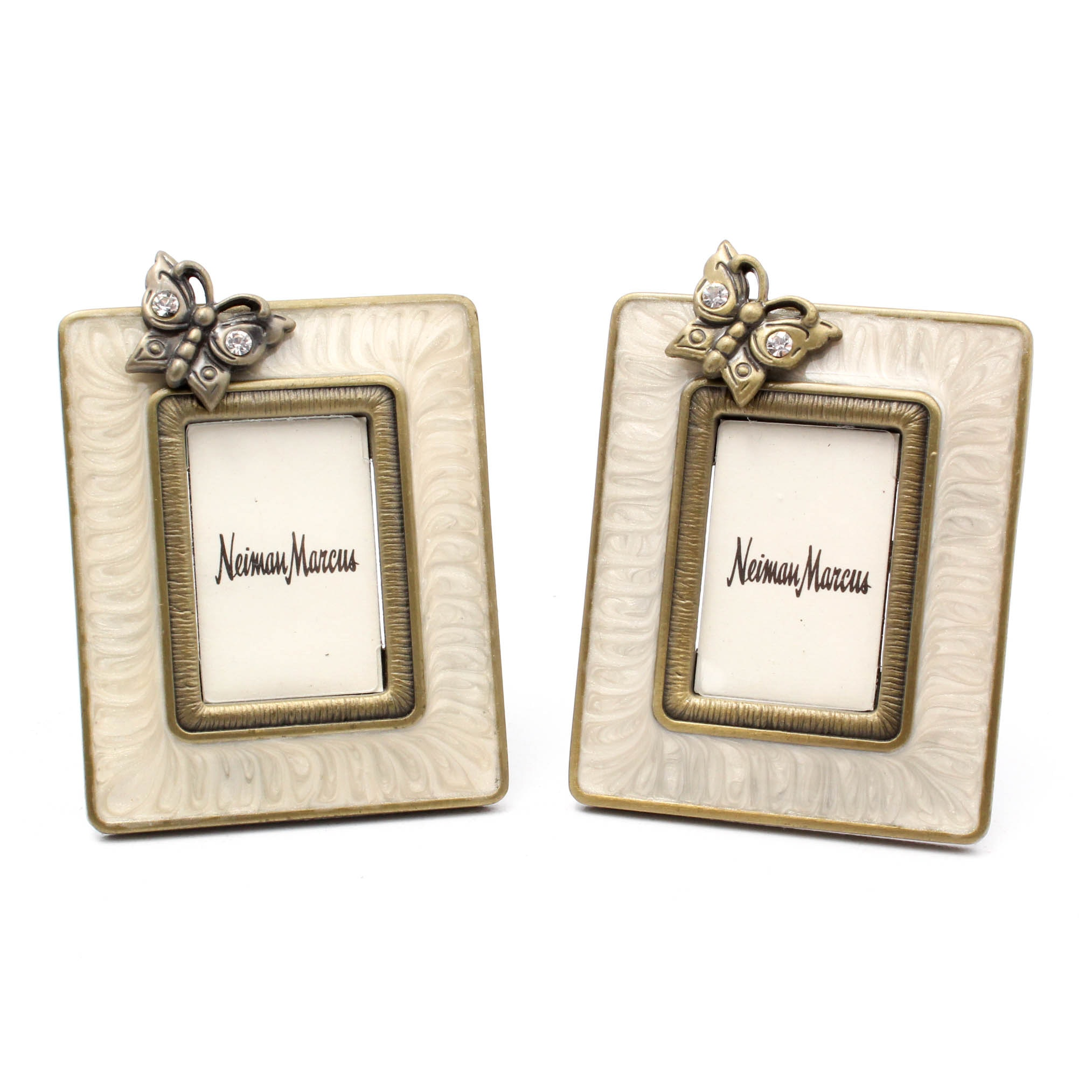 Two Jay Strongwater for Neiman Marcus Enameled Picture Frames