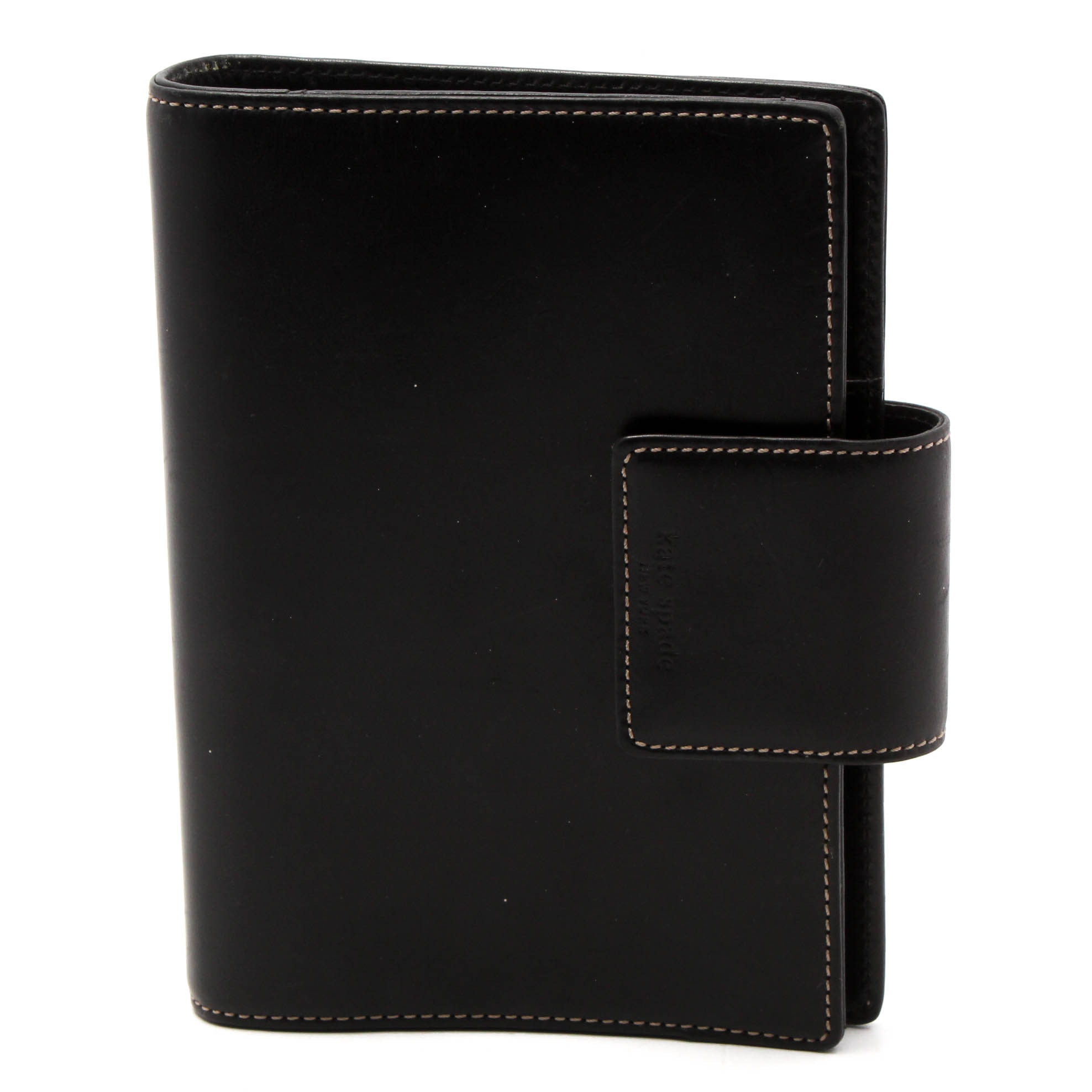 Kate Spade New York Black Leather Planner Cover