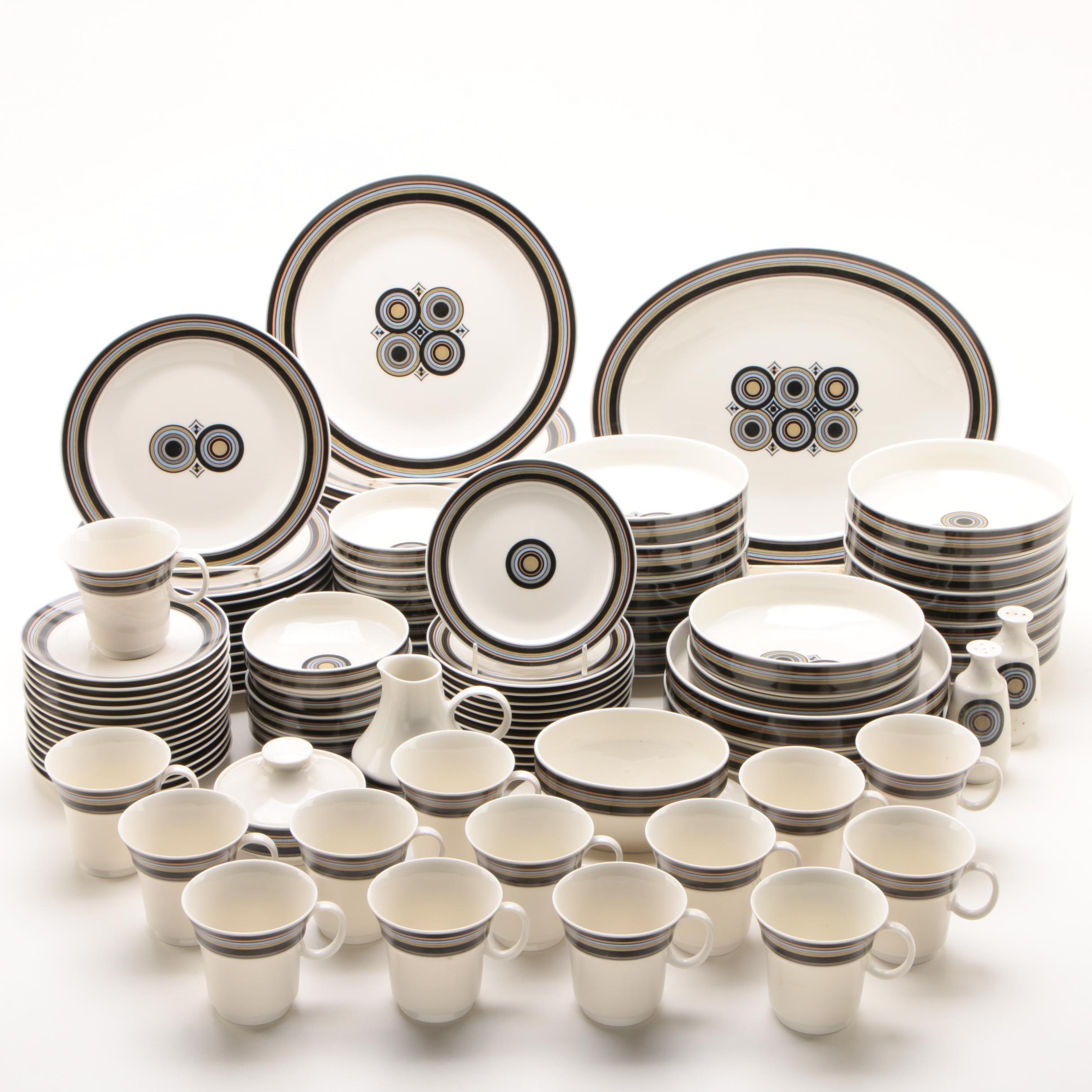 """Noritake """"Tourmaline"""" Porcelain Dinnerware with Lenox Chinaware Platter"""