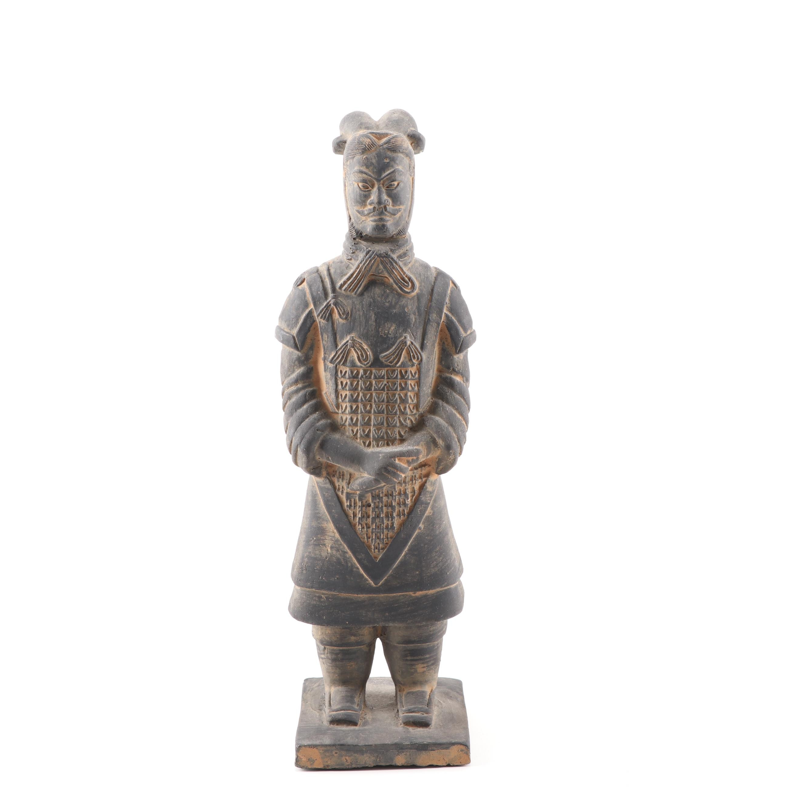 Chinese Tang Style Terracotta Warrior Figurine