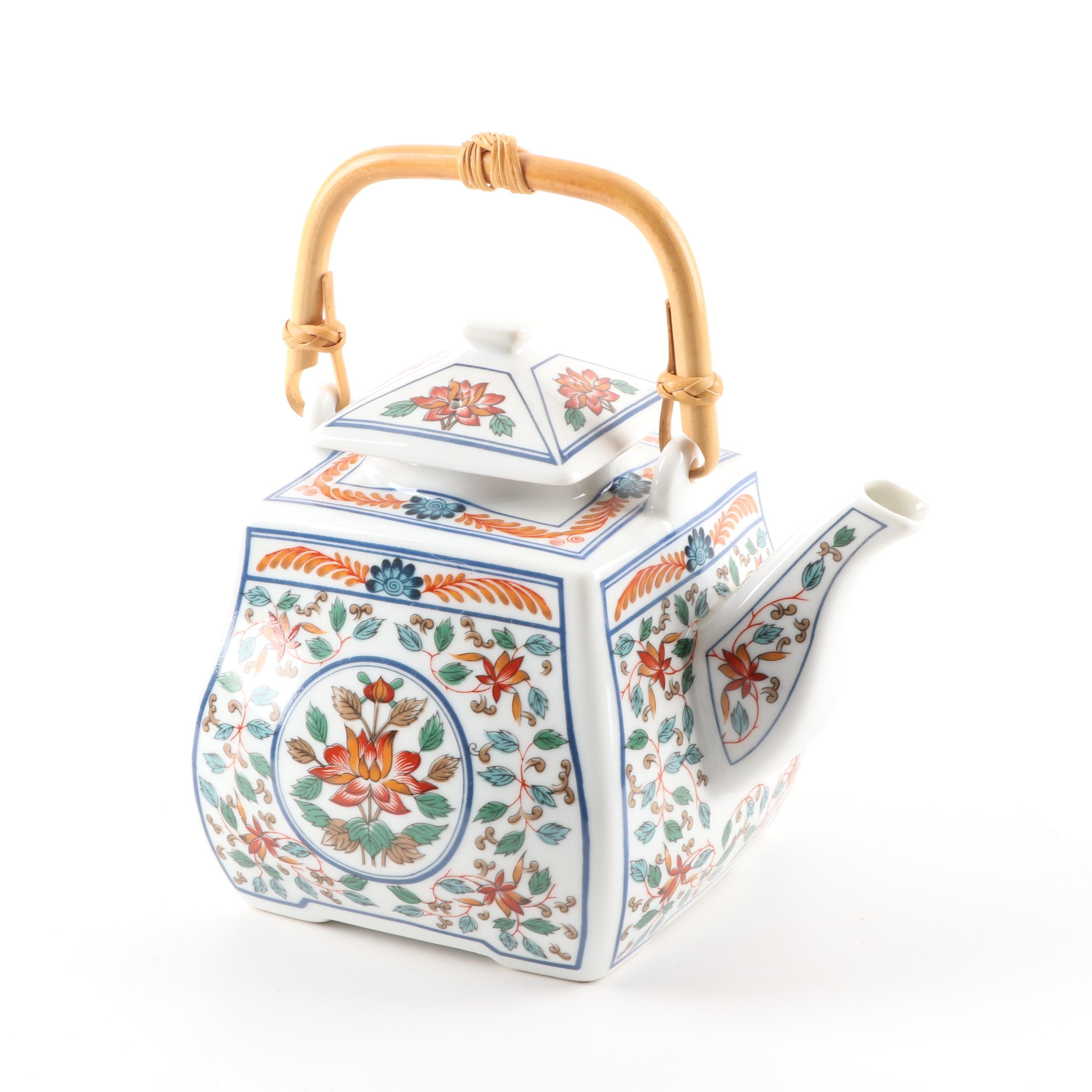 "Japanese ""Imari Blossoms"" by Georges Briard Reproduction Teapot"