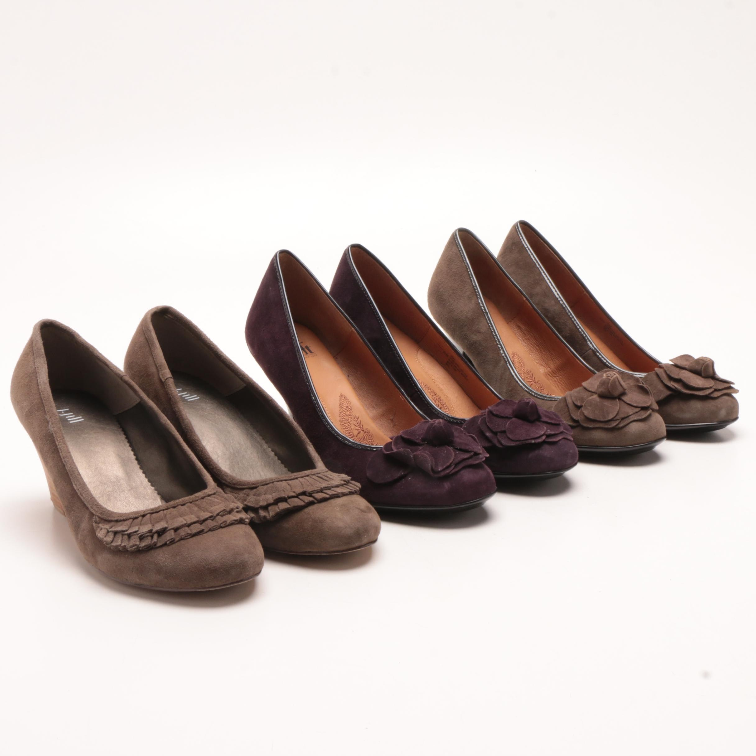 Söfft Suede High-Heeled Pumps and J. Jill Suede Wedges