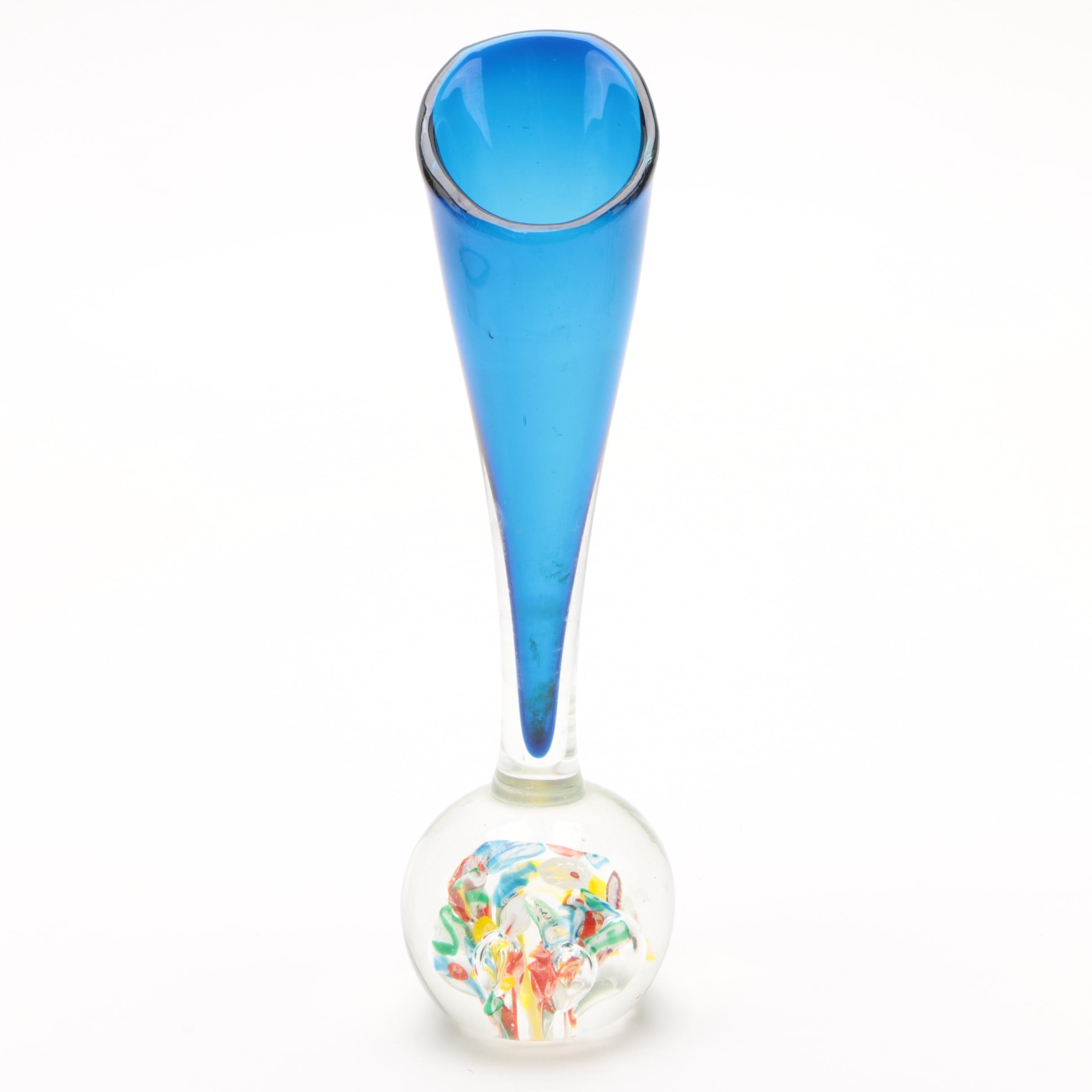 Art Glass Paperweight Vase