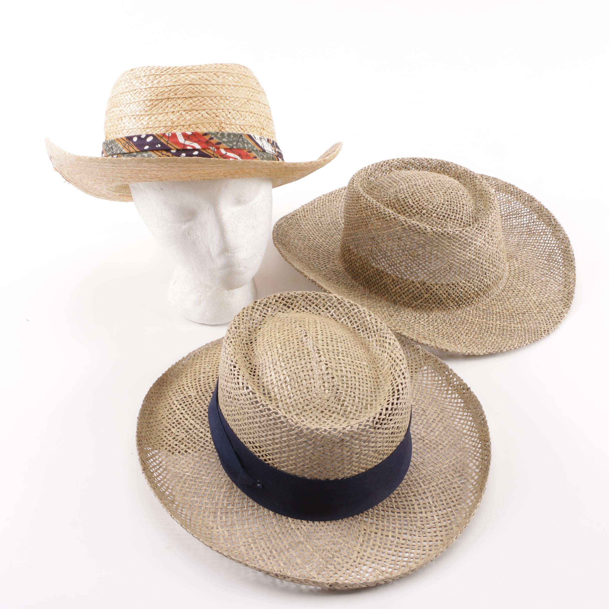 Woven Natural Fiber Hats including Biltmore and Imperial