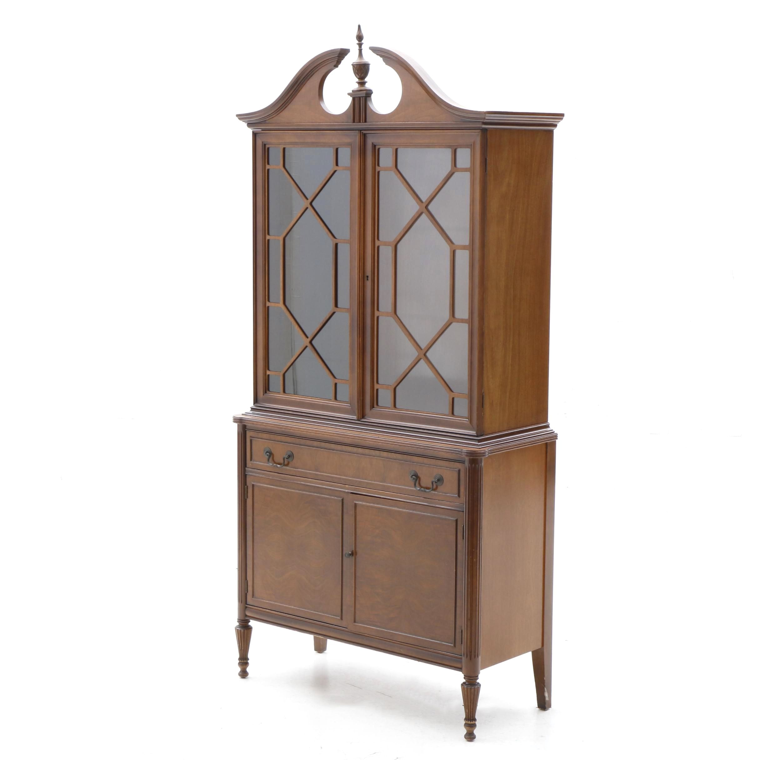 Federal Style China Cabinet in Mahogany