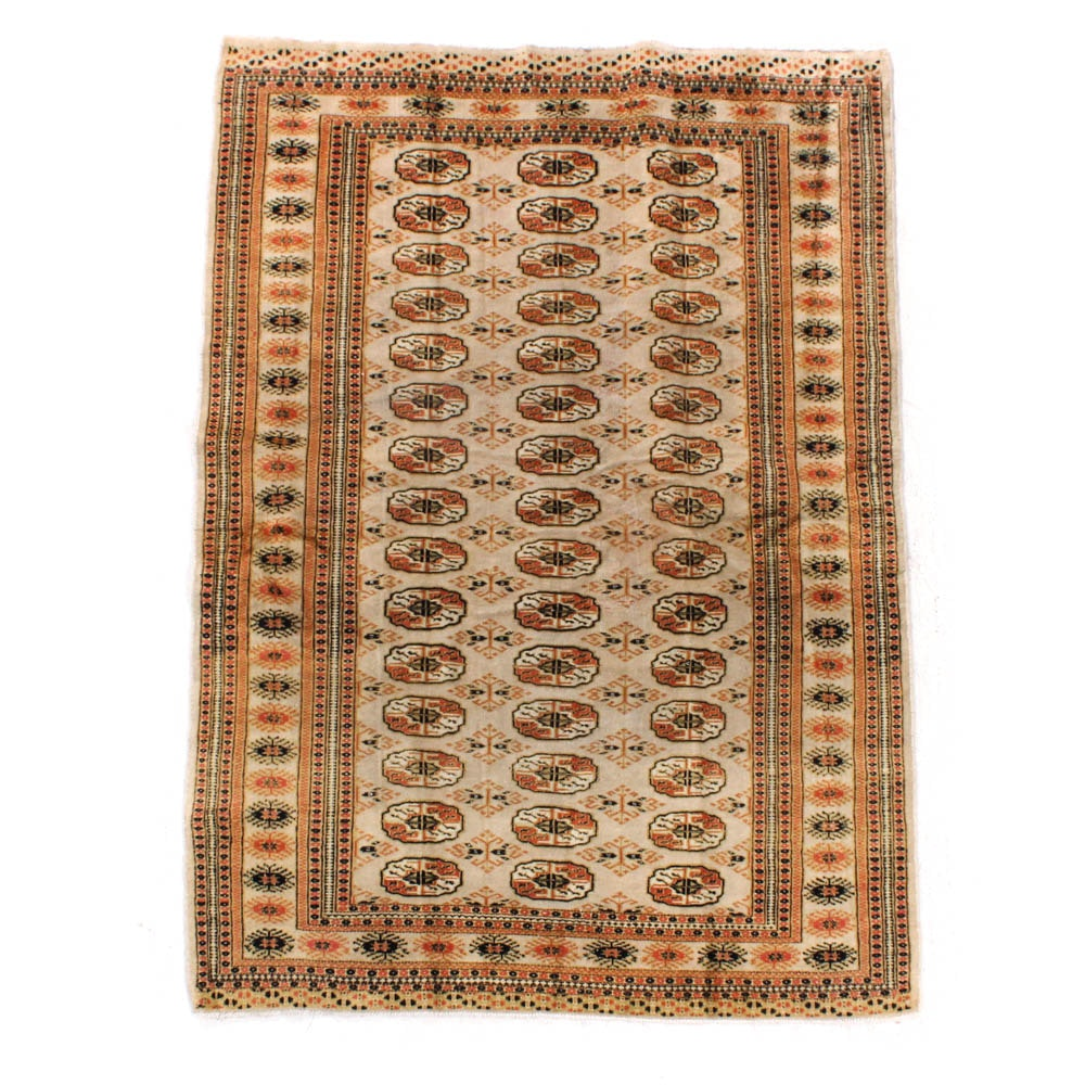Semi-Antique Hand-Knotted Persian Turkoman Rug