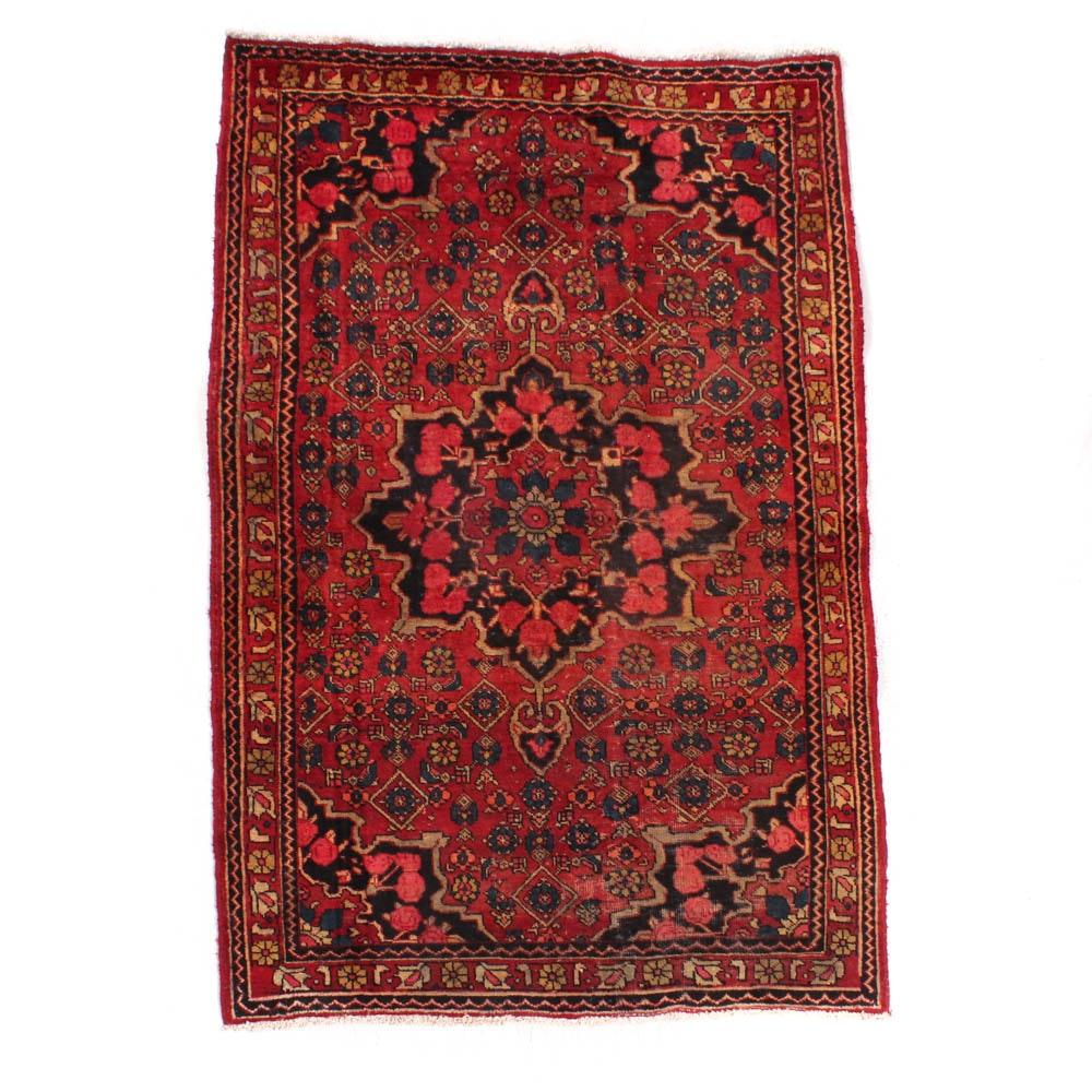 Semi-Antique Hand-Knotted Persian Kurdish Bijar Rug