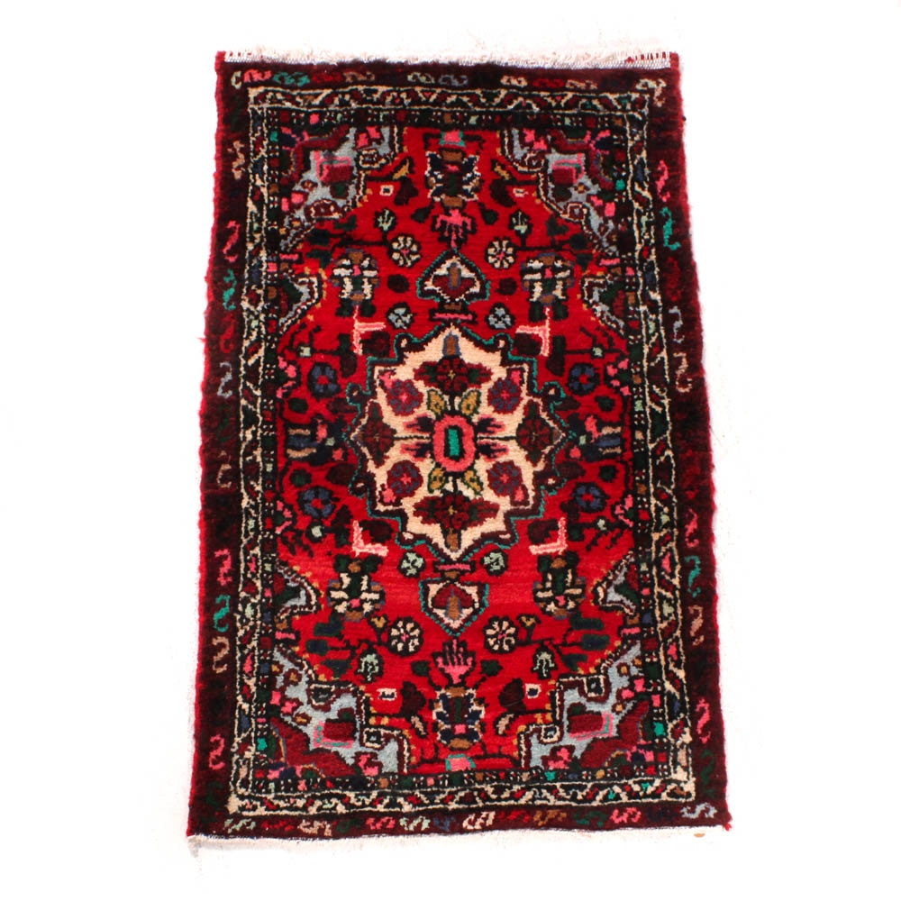 Semi-Antique Hand-Knotted Persian Zanjan Rug
