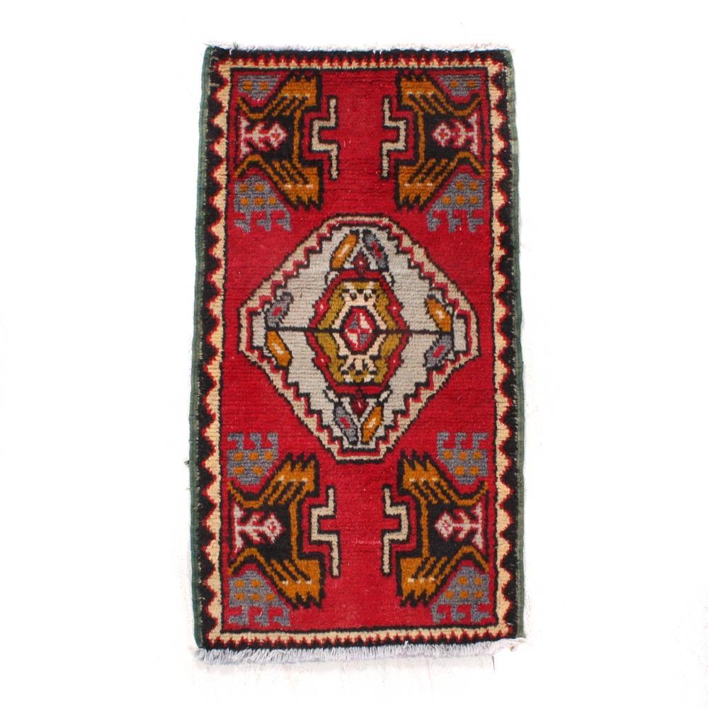 Antique Hand-Knotted Turkish Village Rug