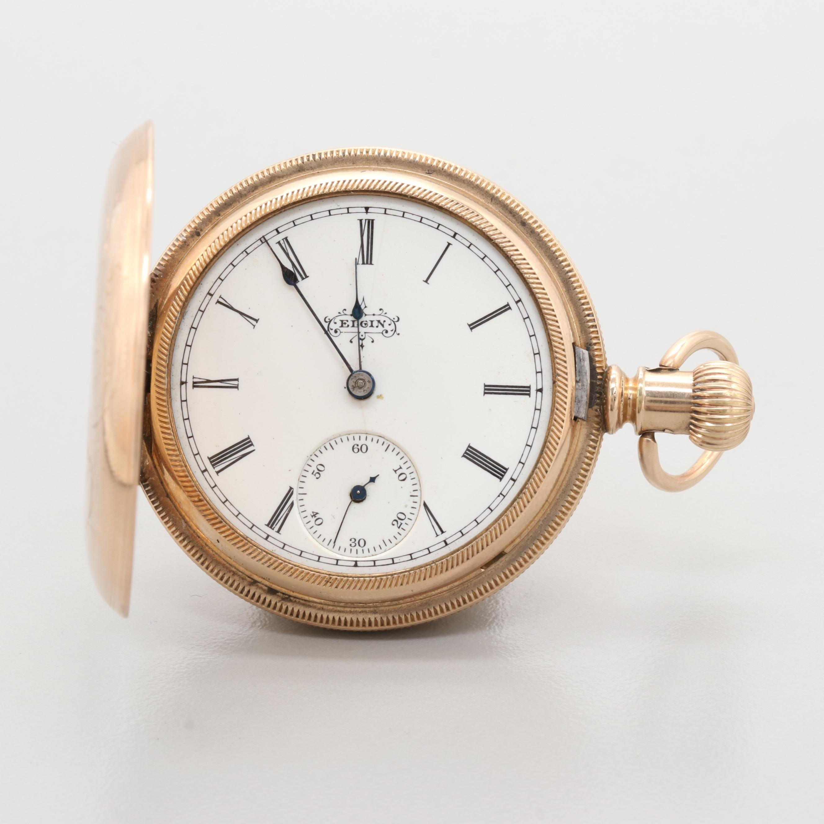 Elgin Gold Filled Hunting Case Pocket Watch, Circa 1896